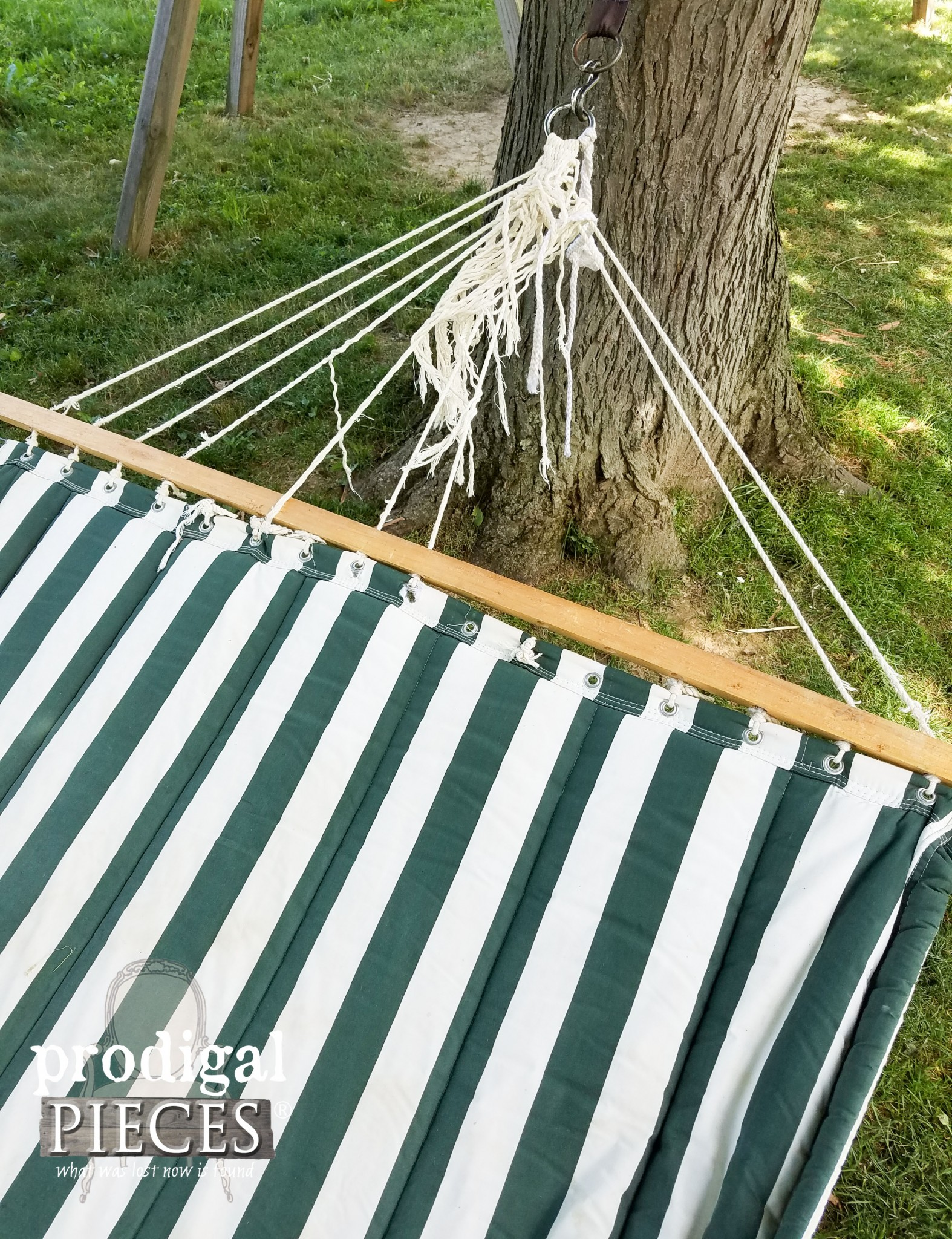 Damaged Outdoor Hammock | Prodigal Pieces | www.prodigalpieces.com