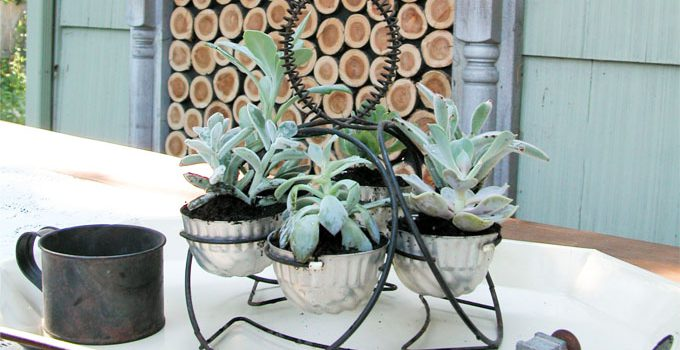 Repurposed Planter ~ Patio Decor Refreshed