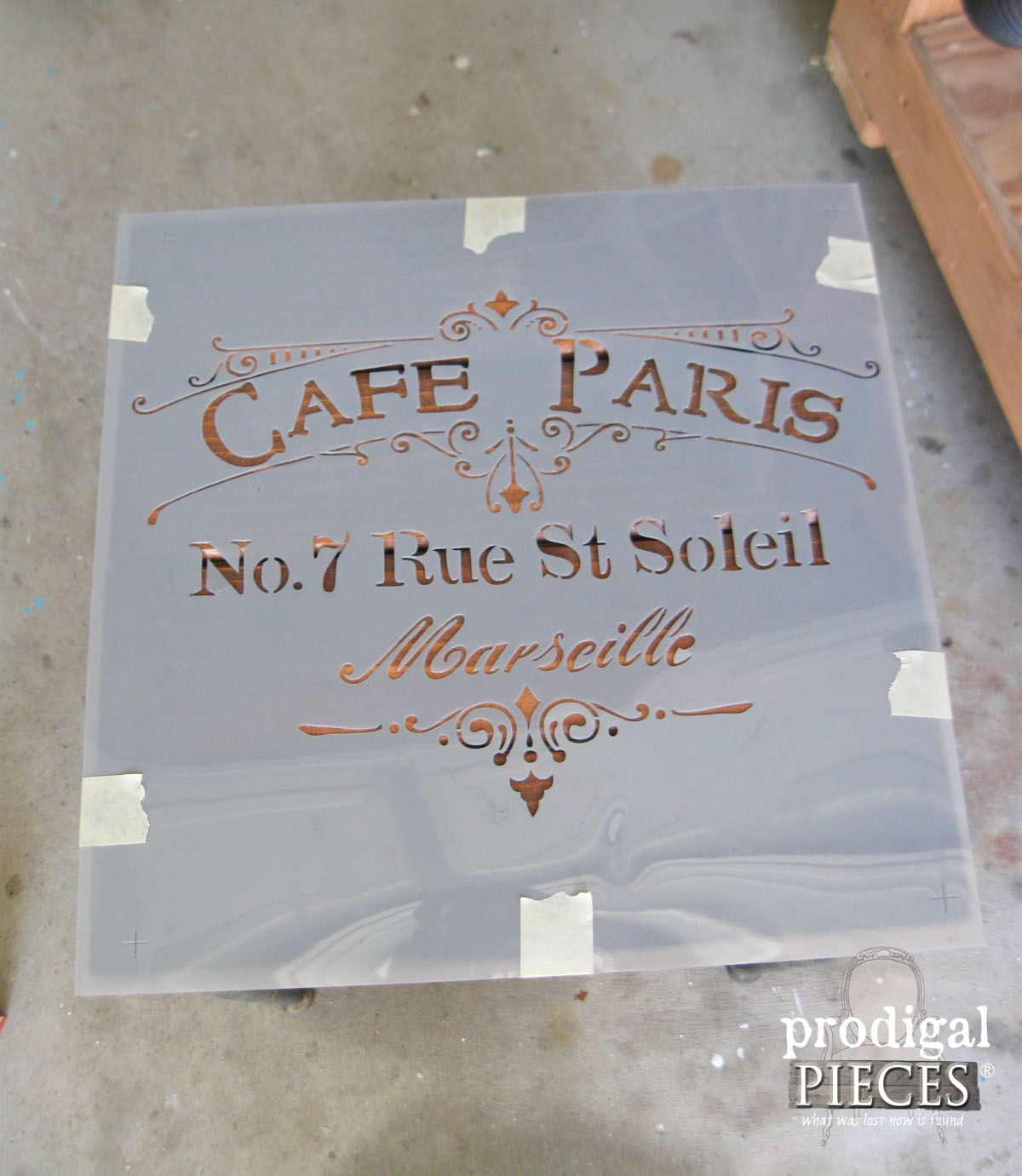 Cafe Paris Stencil by DecoArt for Outdoor Table | Prodigal Pieces | www.prodigalpieces.com