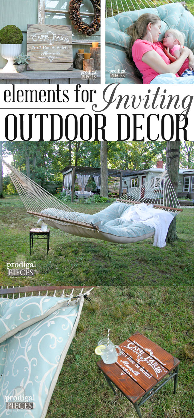 How to Create and Inviting Outdoor Decor Space by Prodigal Pieces | www.prodigalpieces.com