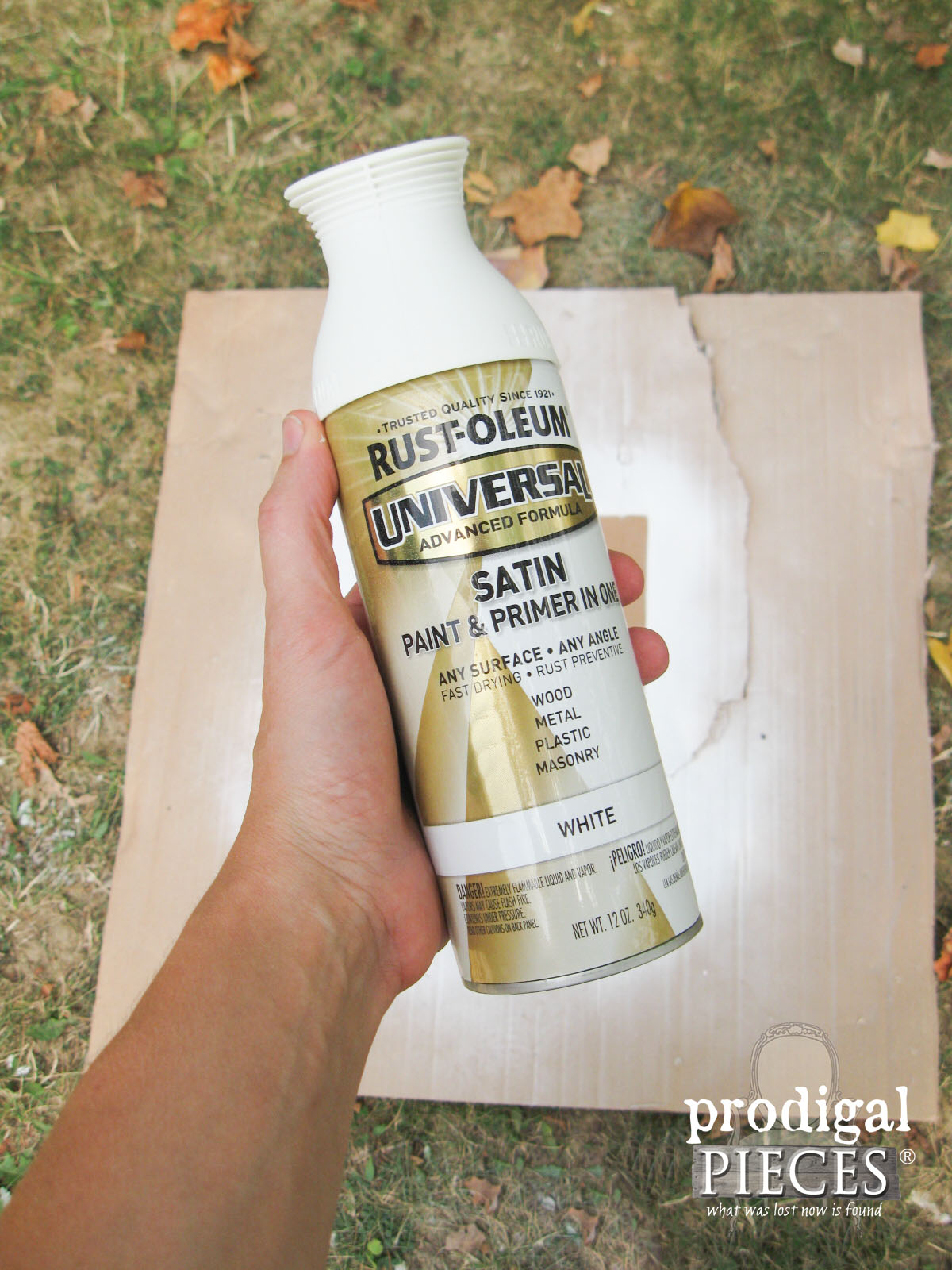 RustOleum Satin White for Repurposed Bread Box | Prodigal Pieces | www.prodigalpieces.com