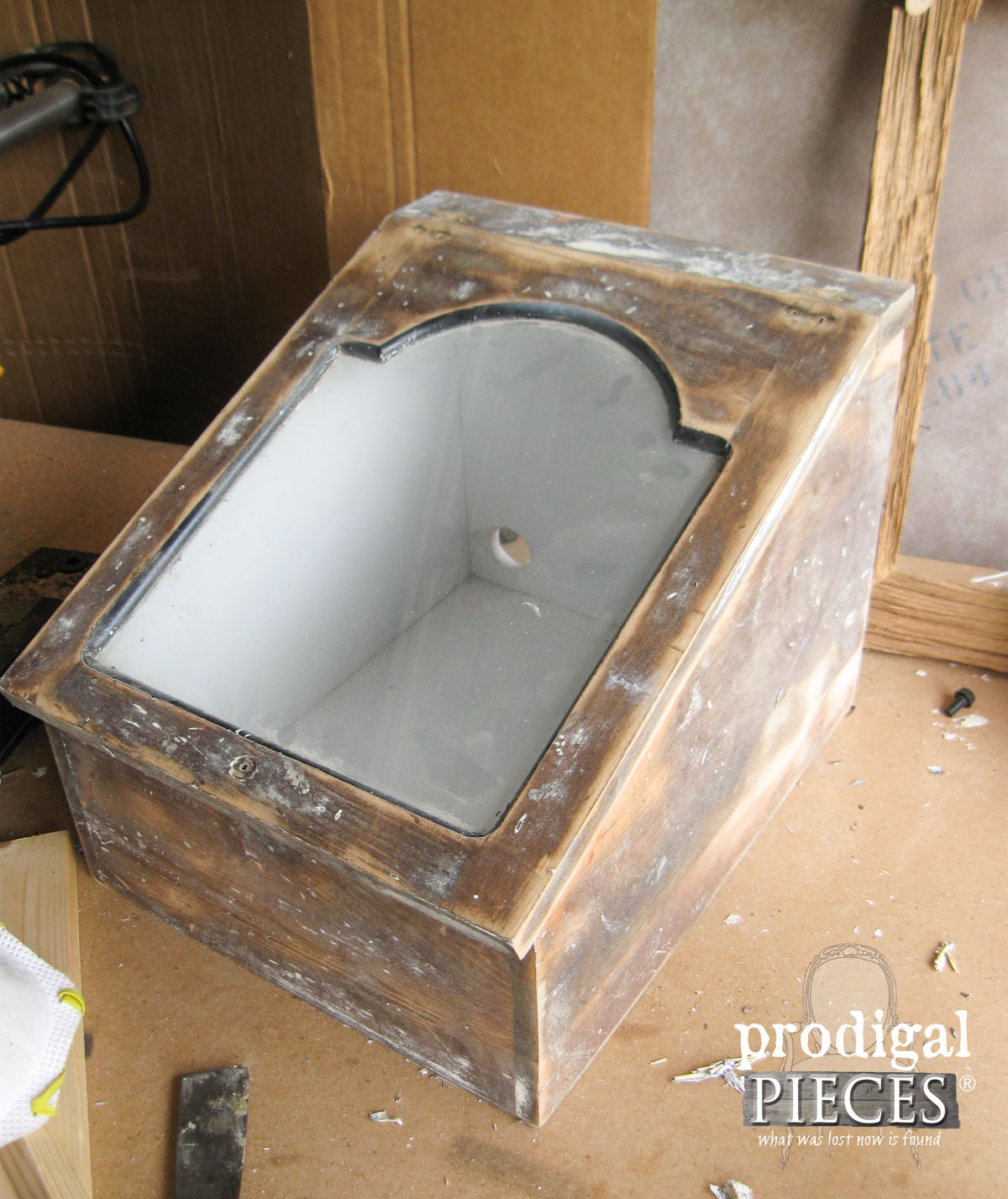 Vintage Bread Box Sanded Down for New Look | Prodigal Pieces | www.prodigalpieces.com