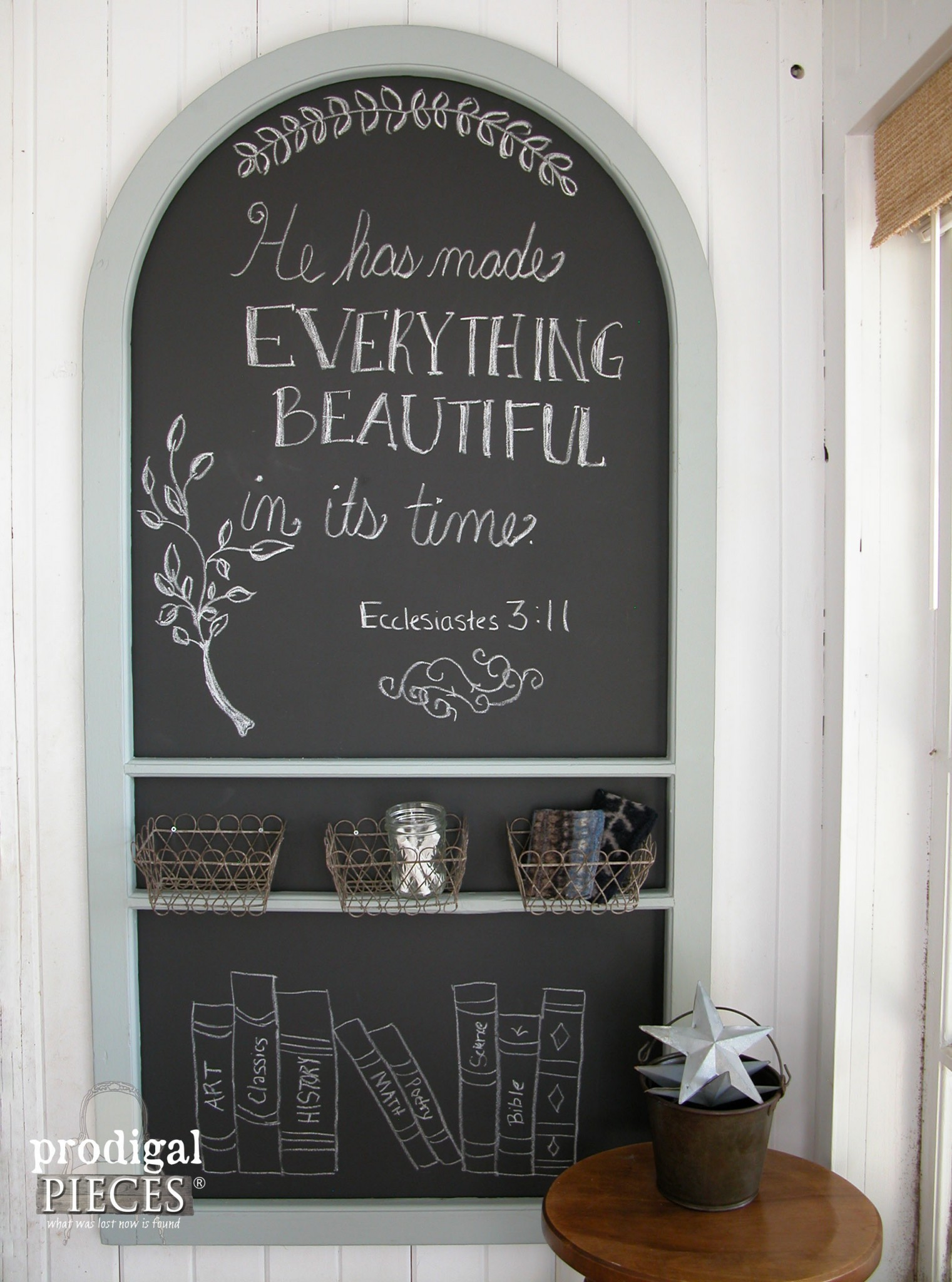 DIY Chalkboard from Repurposed Screen Door by Prodigal Pieces | www.prodigalpieces.com