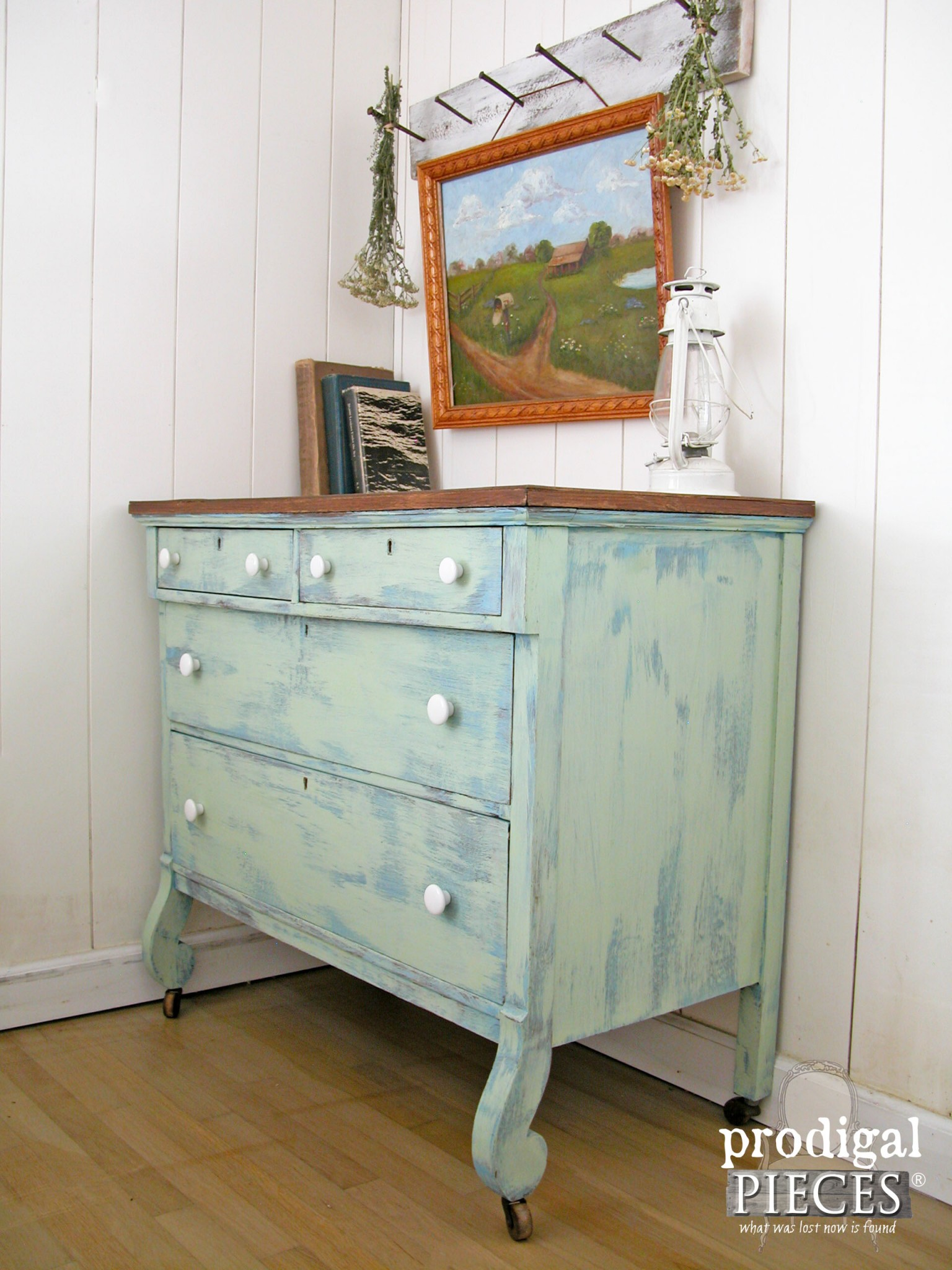 Summertime Sky Farmhouse Dresser by Prodigal Pieces | www.prodigalpieces.com