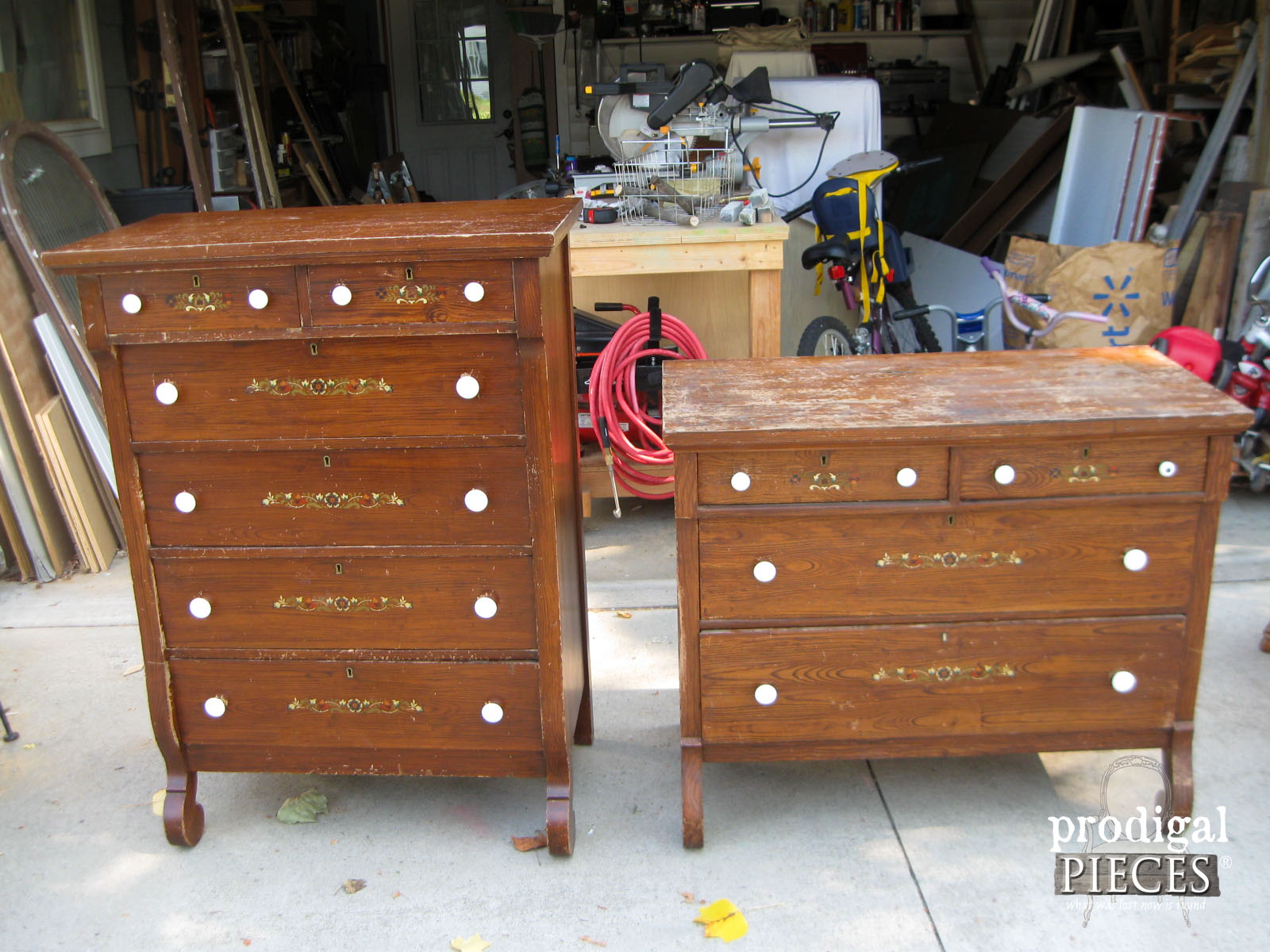 Empire Chest and Dresser Set Before Makeover | Prodigal Pieces | www.prodigalpieces.com