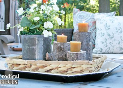 Featured DIY Log Candlesticks by Prodigal Pieces | www.prodigalpieces.com