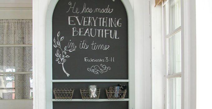 Repurposed Screen Door Chalkboard