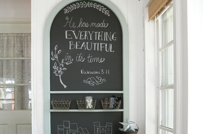 Featured Repurposed Screen Door Chalkboard by Prodigal Pieces   www.prodigalpieces.com