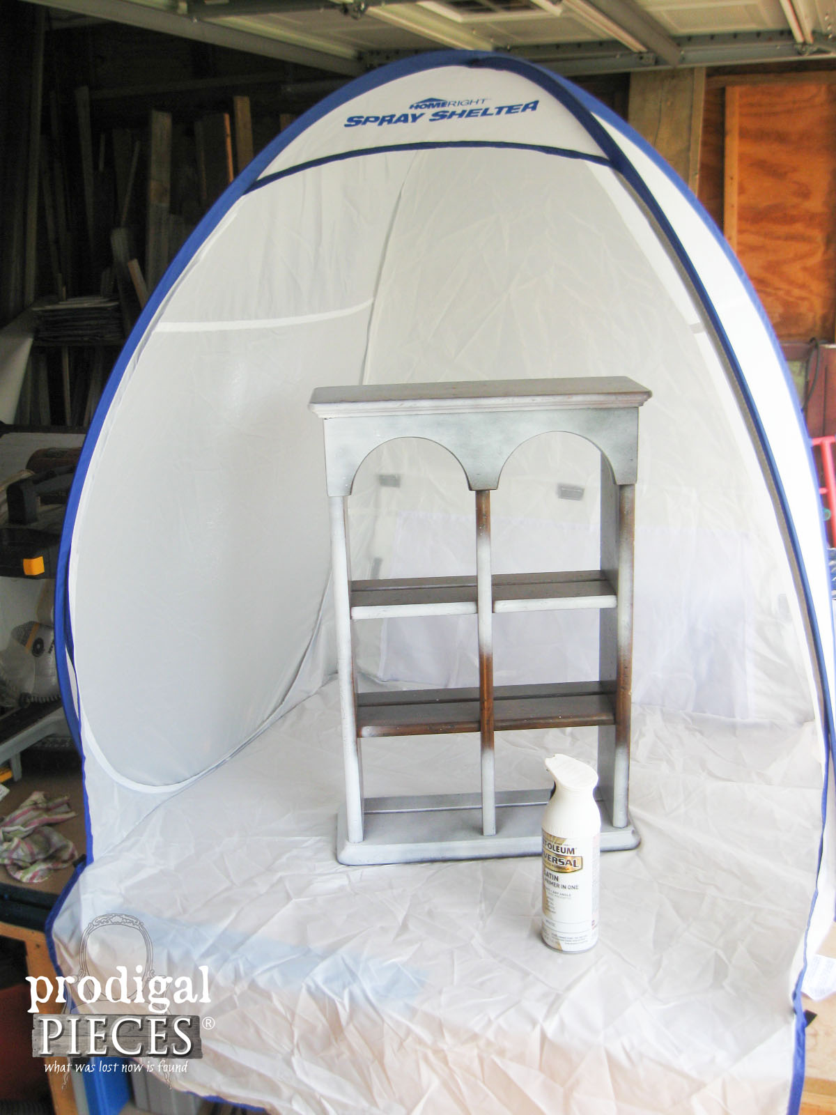 Introducing the New HomeRight Spray Shelter for Small Projects | Prodigal Pieces | www.prodigalpieces.com