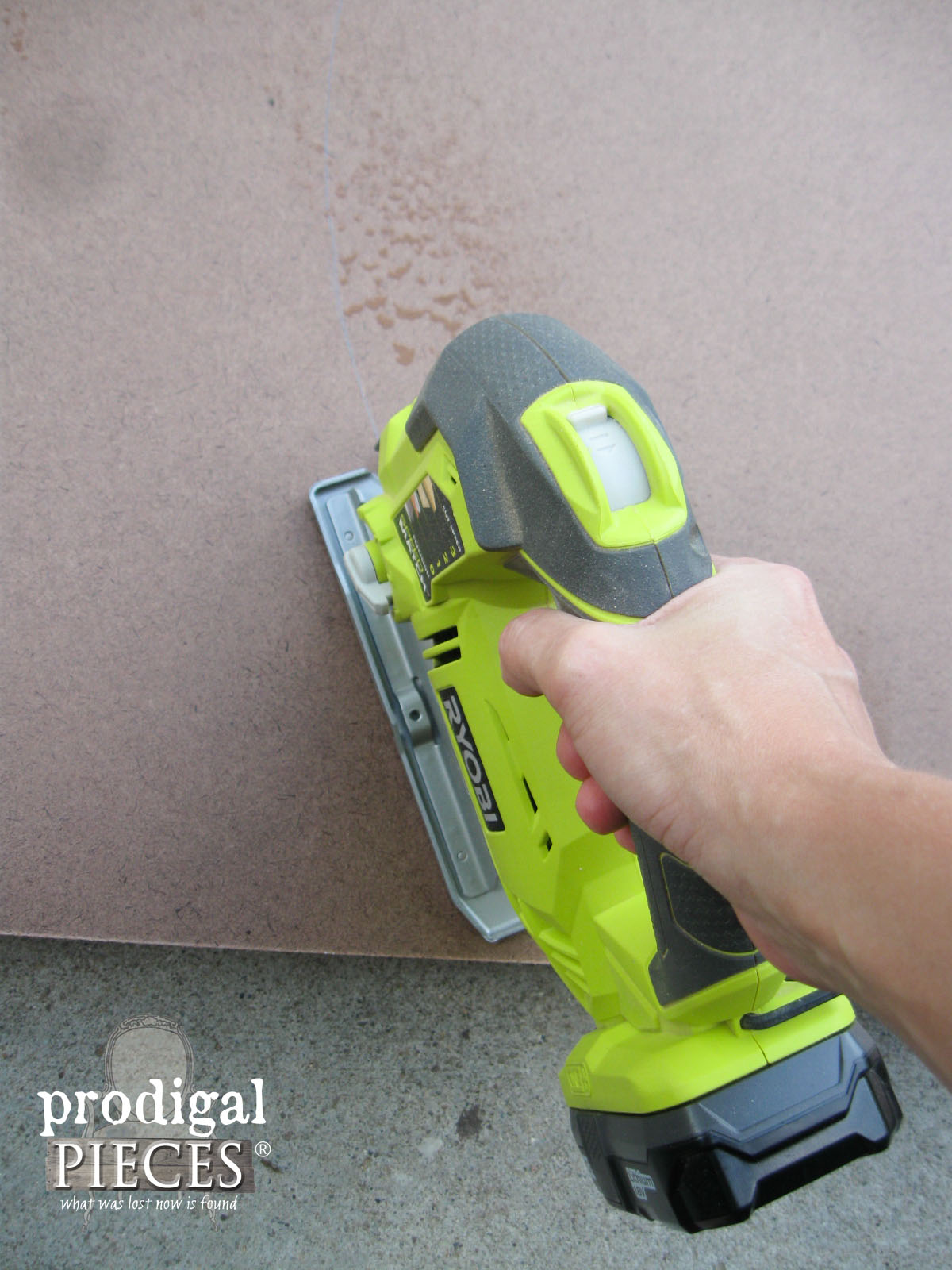 Cutting Chalkboard with Jigsaw | Prodigal Pieces | www.prodigalpieces.com