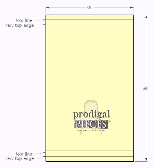 Diagram for Making Pet Bed Pillow Case | Prodigal Pieces | www.prodigalpieces.com