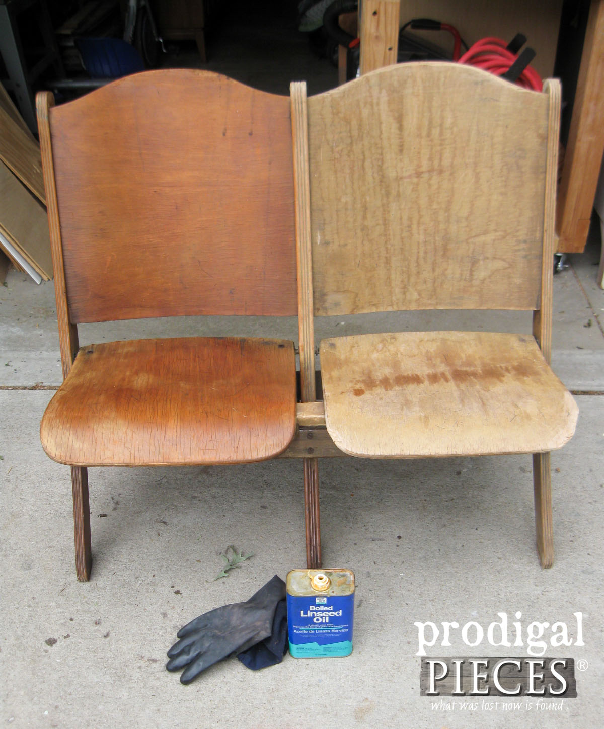 Old Theater Seats Revived with Easy Treatment to Refresh Old Wood | Prodigal Pieces | www.prodigalpieces.com