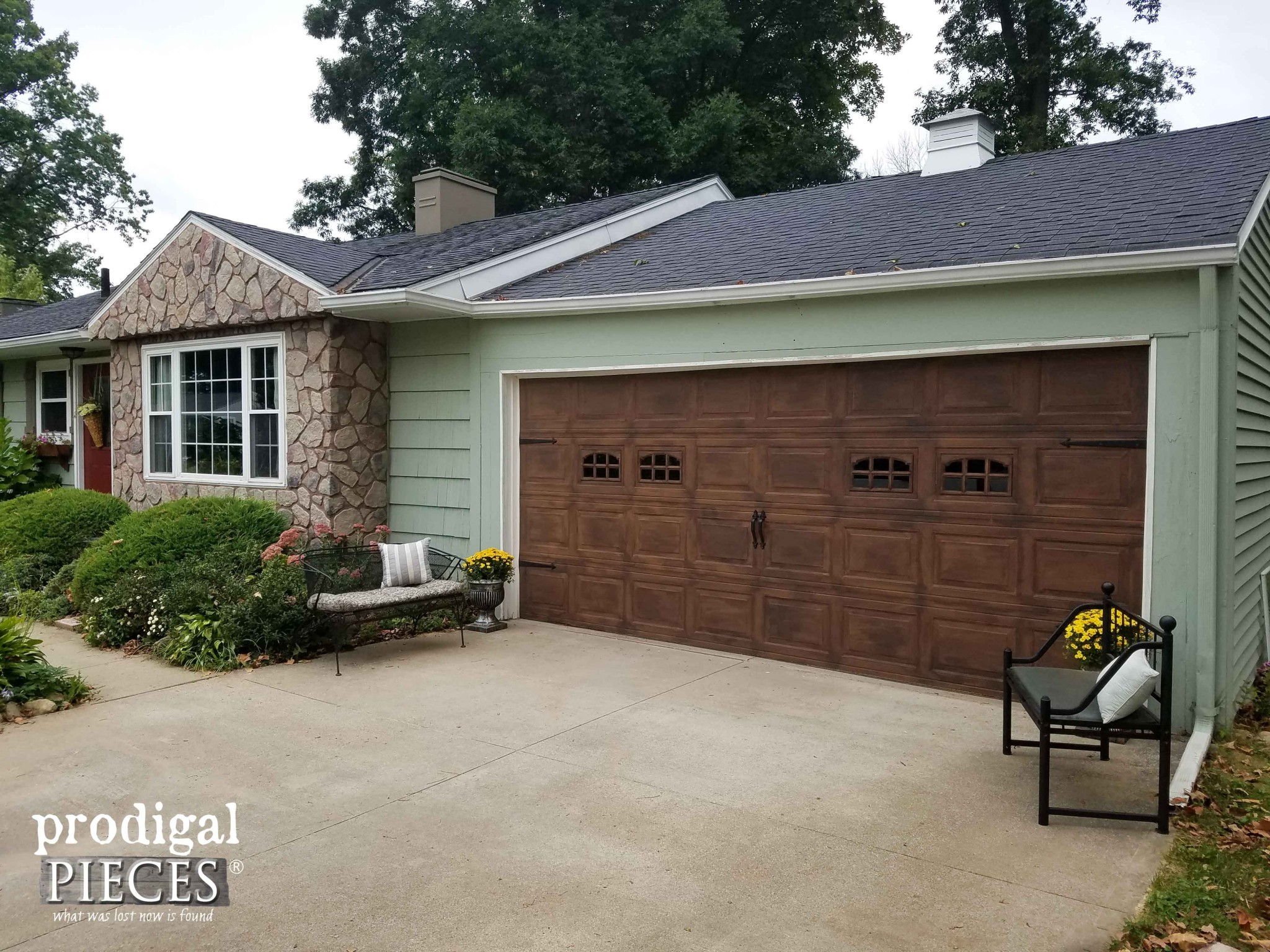 3 Year Update on Faux Wood Garage Door - Still Lookin' Good! | Prodigal Pieces | www.prodigalpieces.com