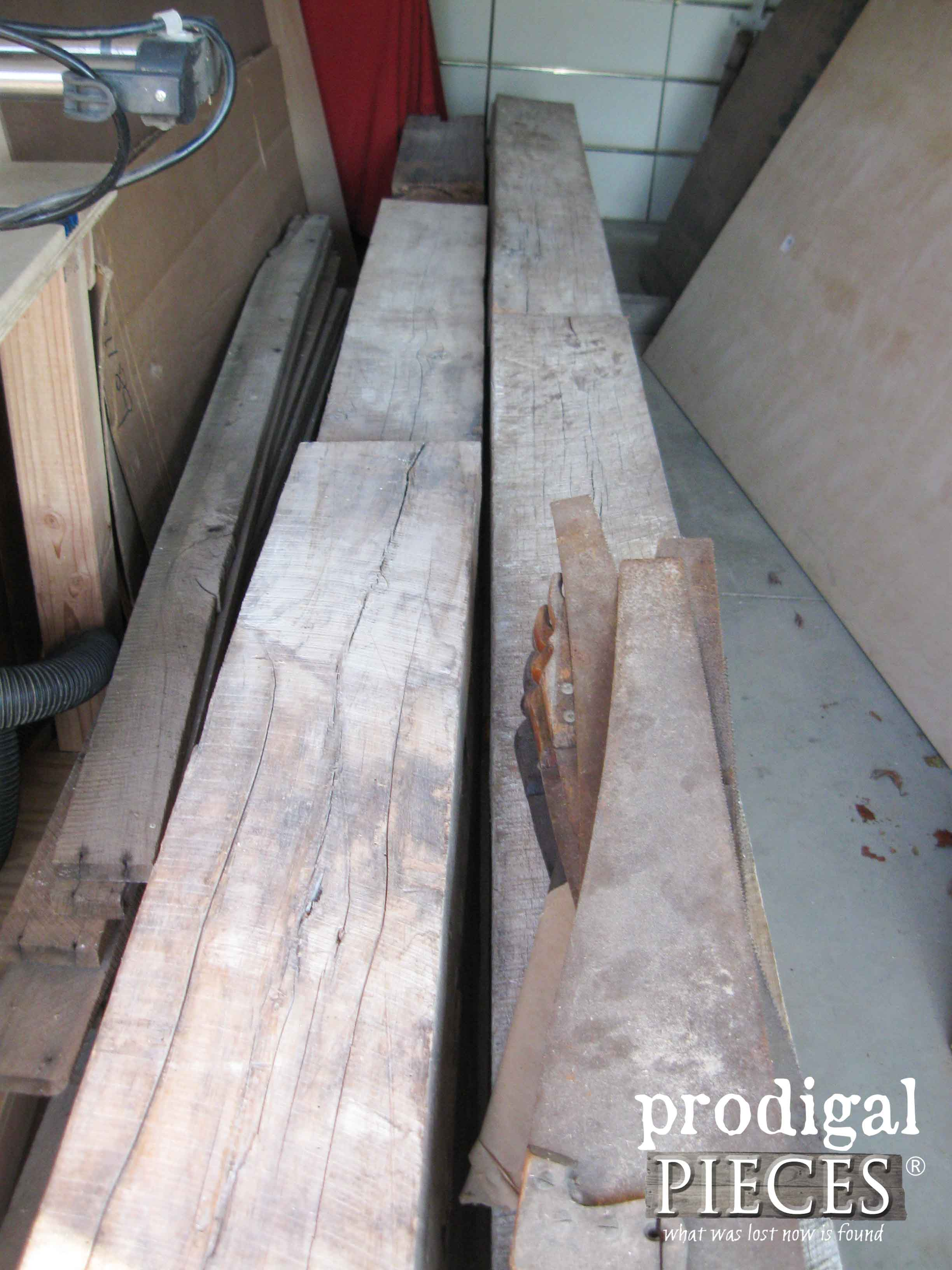 Reclaimed Barn Wood for Countertops | Prodigal Pieces | www.prodigalpieces.com