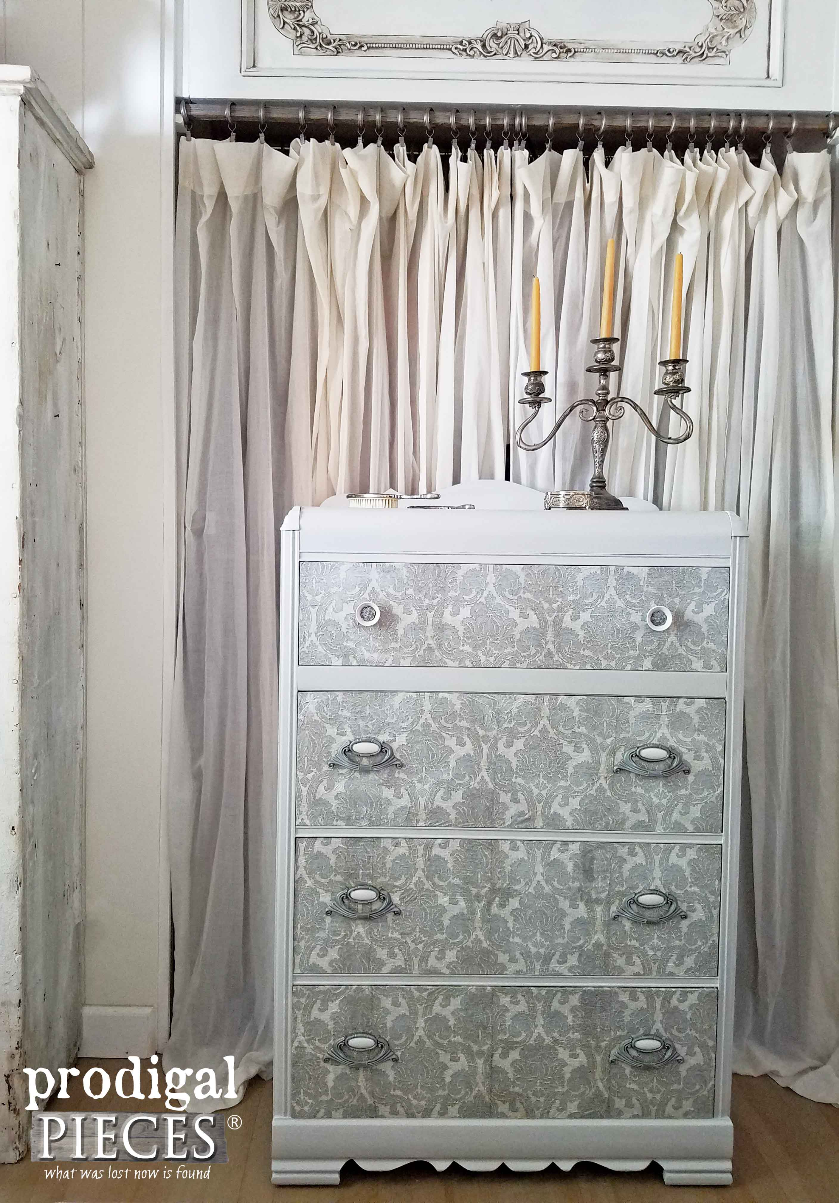 Create Dimension and Update Your Furniture with Decoupage by Prodigal Pieces | www.prodigalpieces.com