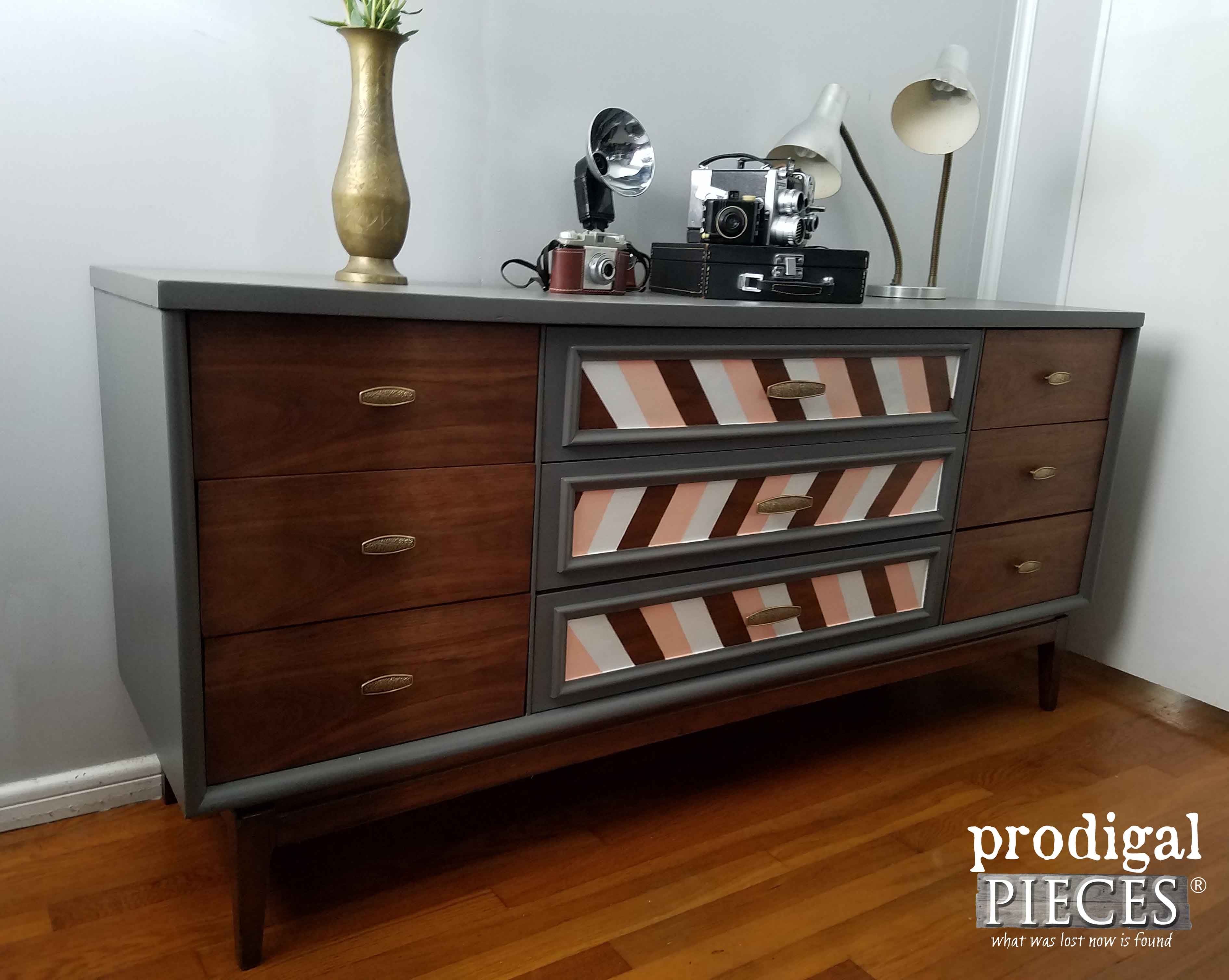 Vintage Mid Century Modern Dresser with Modern Chic Look by Prodigal Pieces | www.prodigalpieces.com