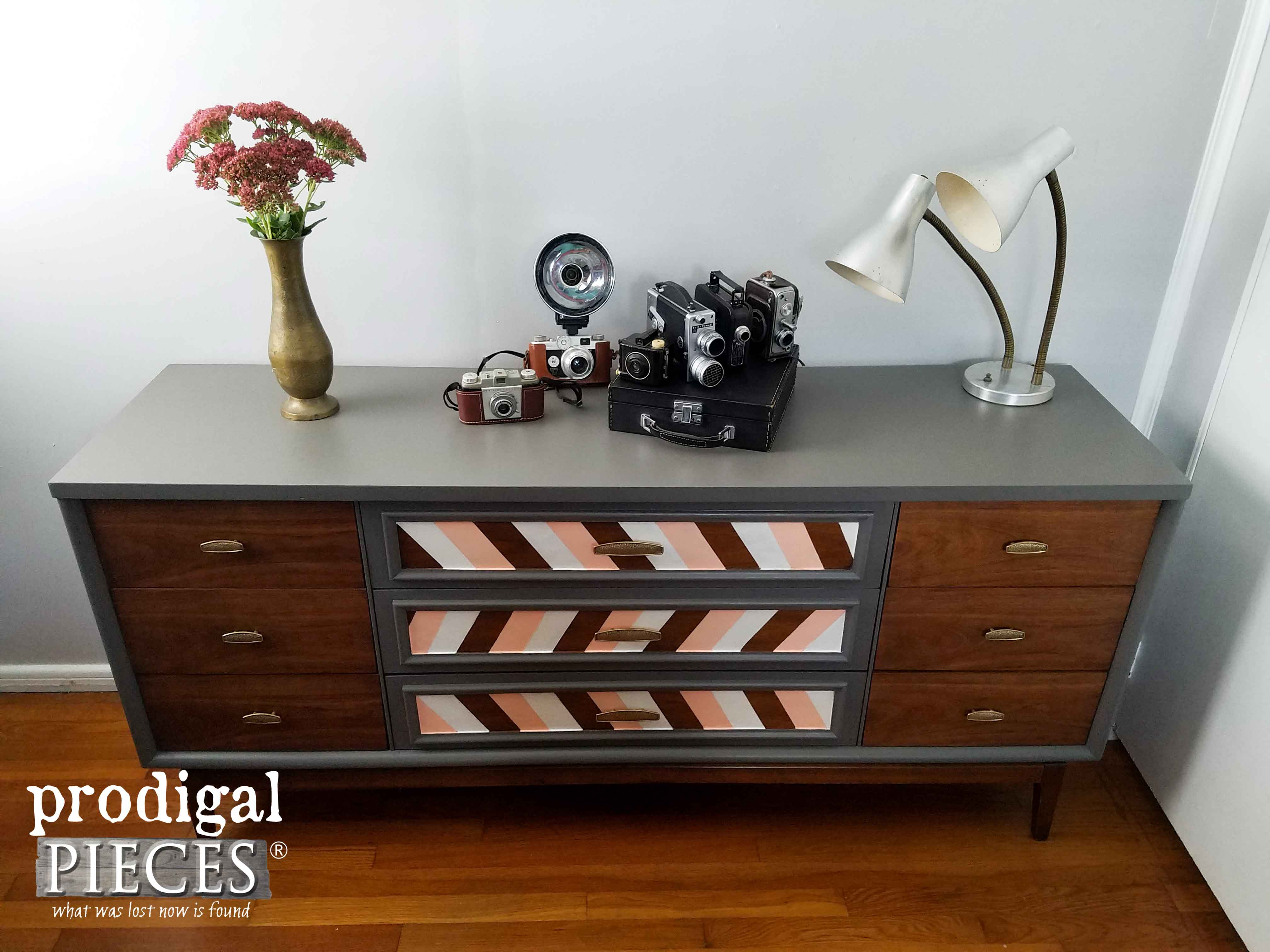 Modern Chic Makeover for a Mid Century Modern Dresser by Prodigal Pieces | www.prodigalpieces.com