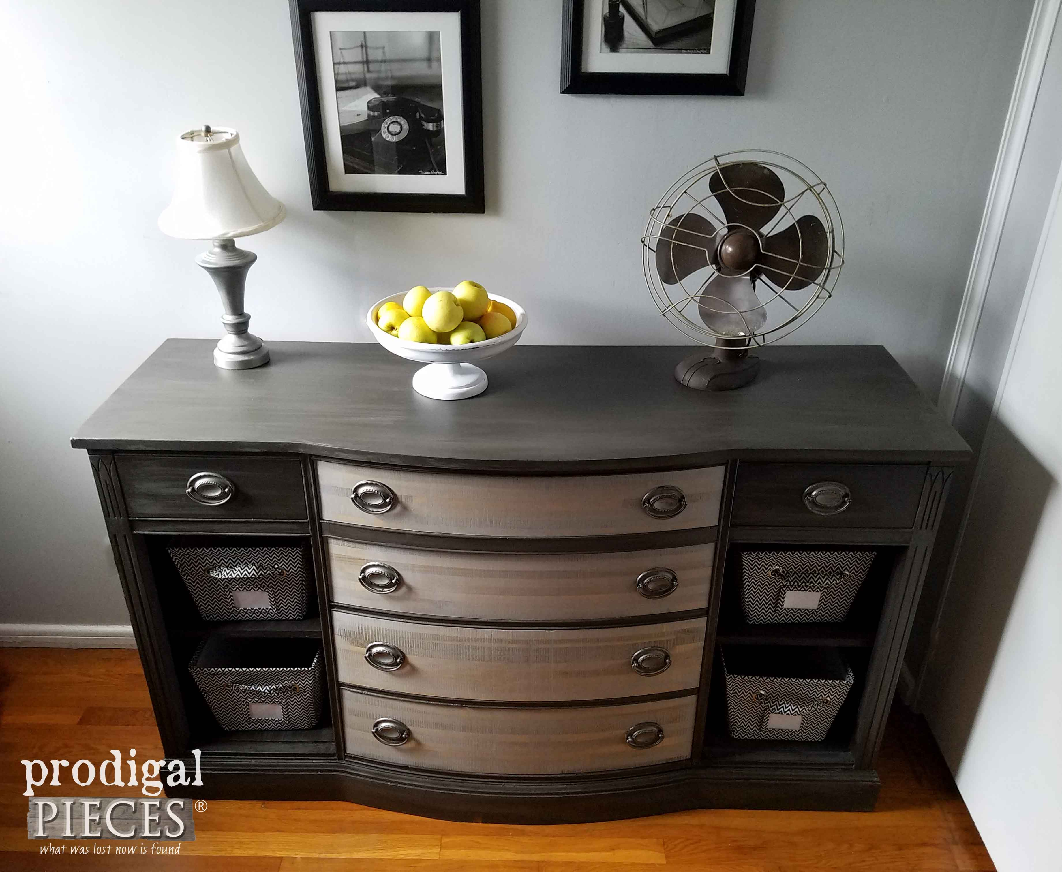Updated Vintage Buffet Made Over by Teenage Boy | Prodigal Pieces | www.prodigalpieces.com