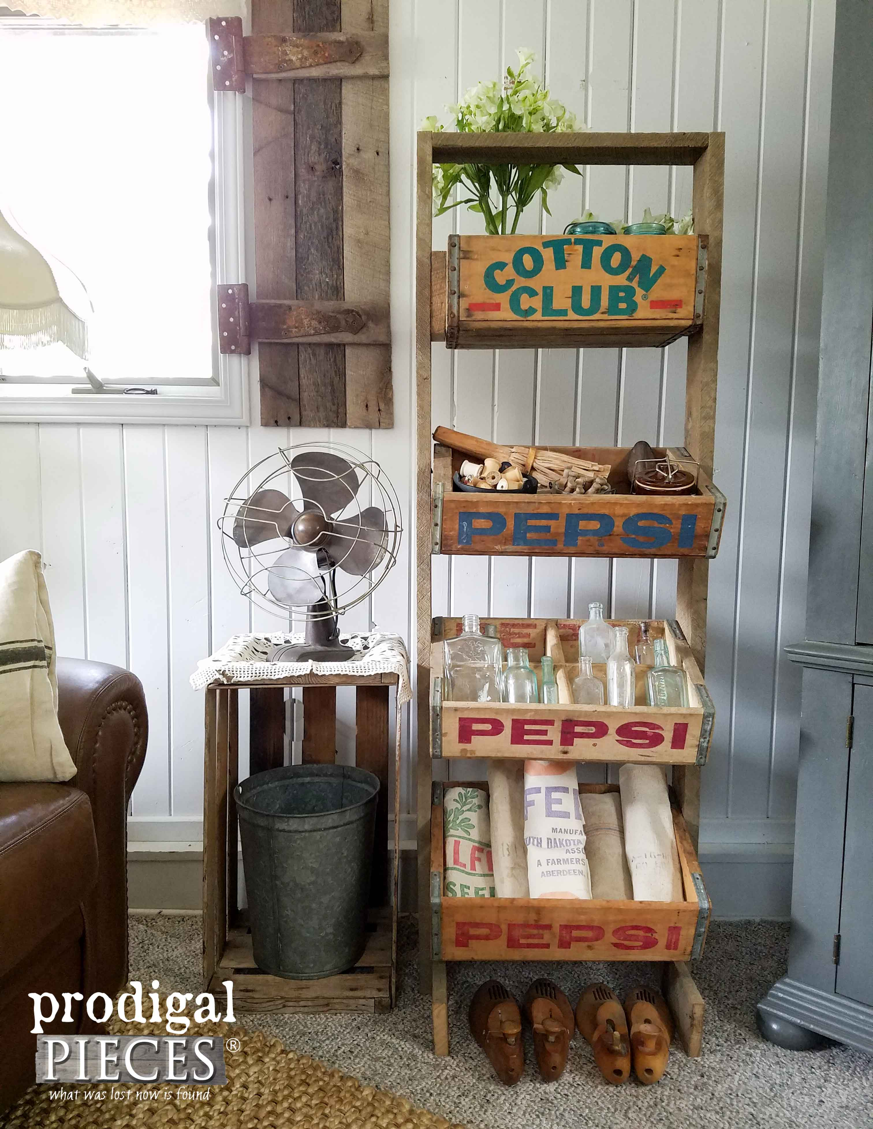 Reclaimed Vintage Soda Crate Stand by Prodigal Pieces | www.prodigalpieces.com