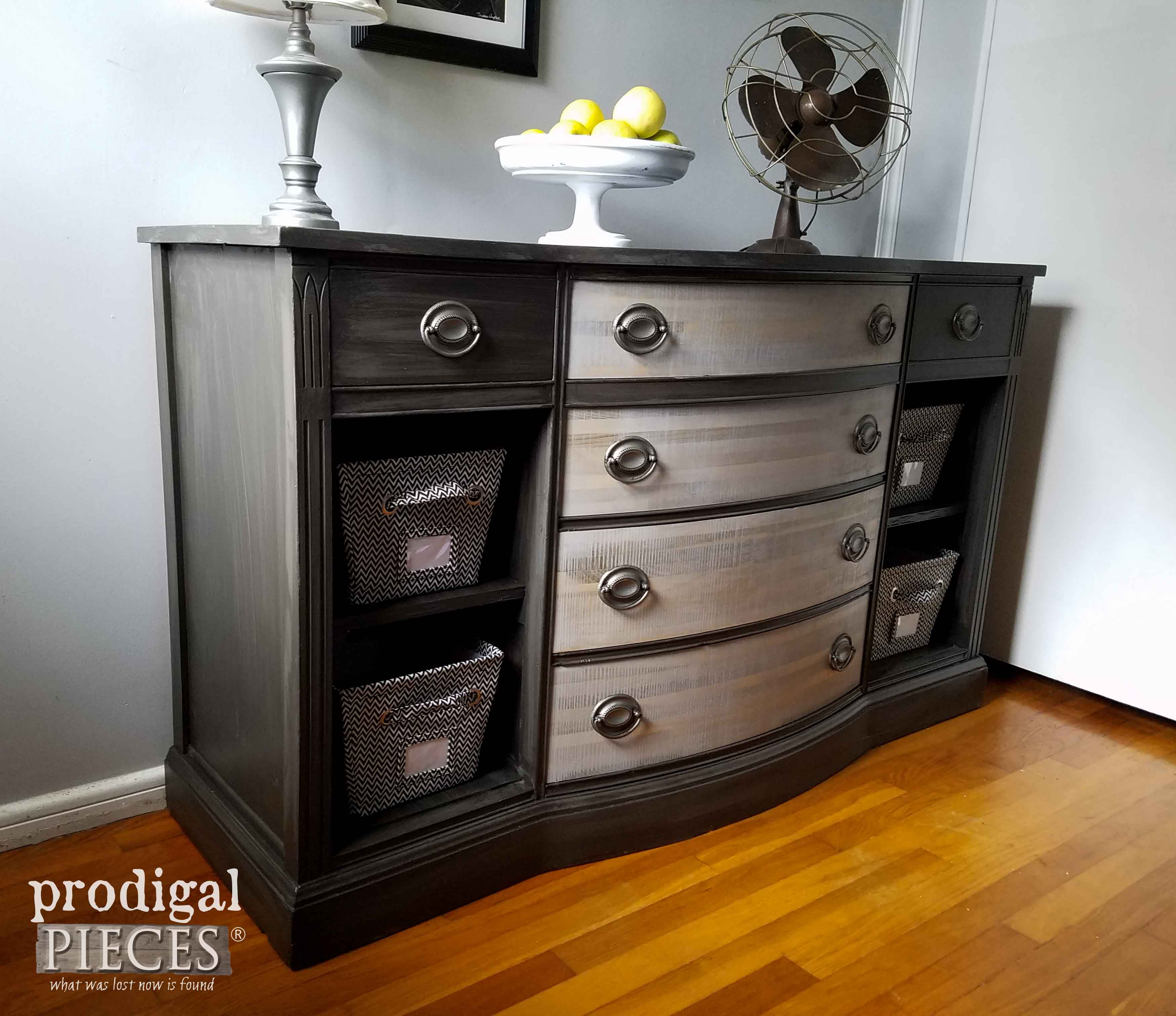 Worn Out Vintage Buffets Gets New Life by Teenage Boy | Prodigal Pieces | www.prodigalpieces.com