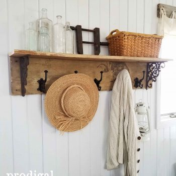 Rustic Farmhouse Coat Rack with Tutorial by Prodigal Pieces | www.prodigalpieces.com