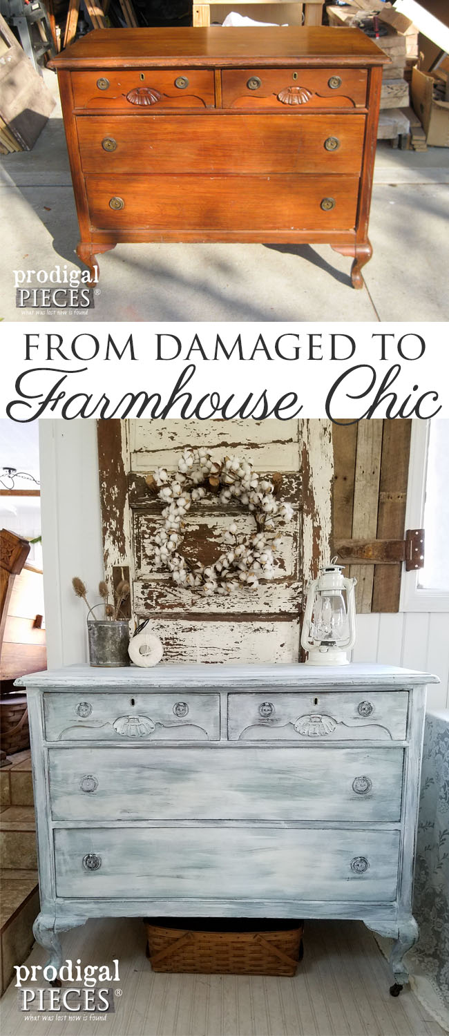 Get the Farmhouse Chic Look with this Tutorial by Larissa at Prodigal Pieces | www.prodigalpieces.com