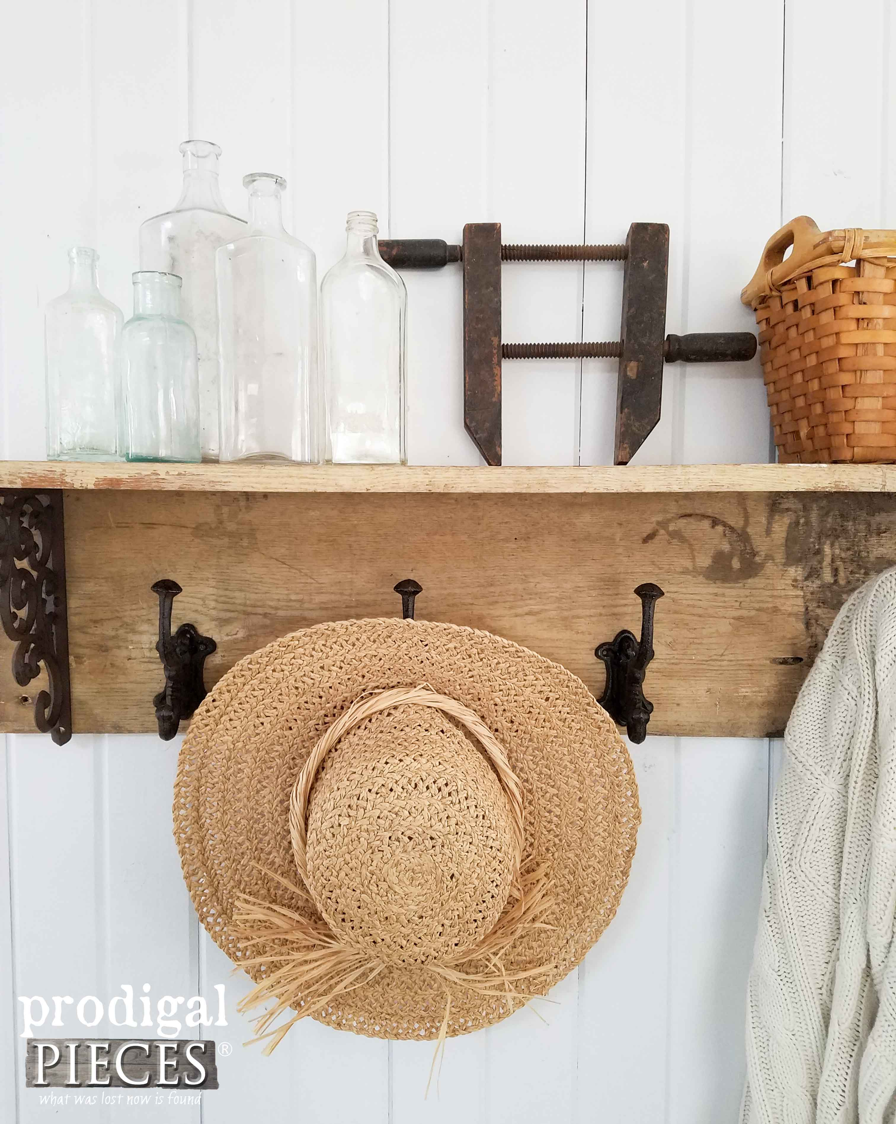 Farmhouse Entry with DIY Coat Rack Plans by Prodigal Pieces | www.prodigalpieces.com