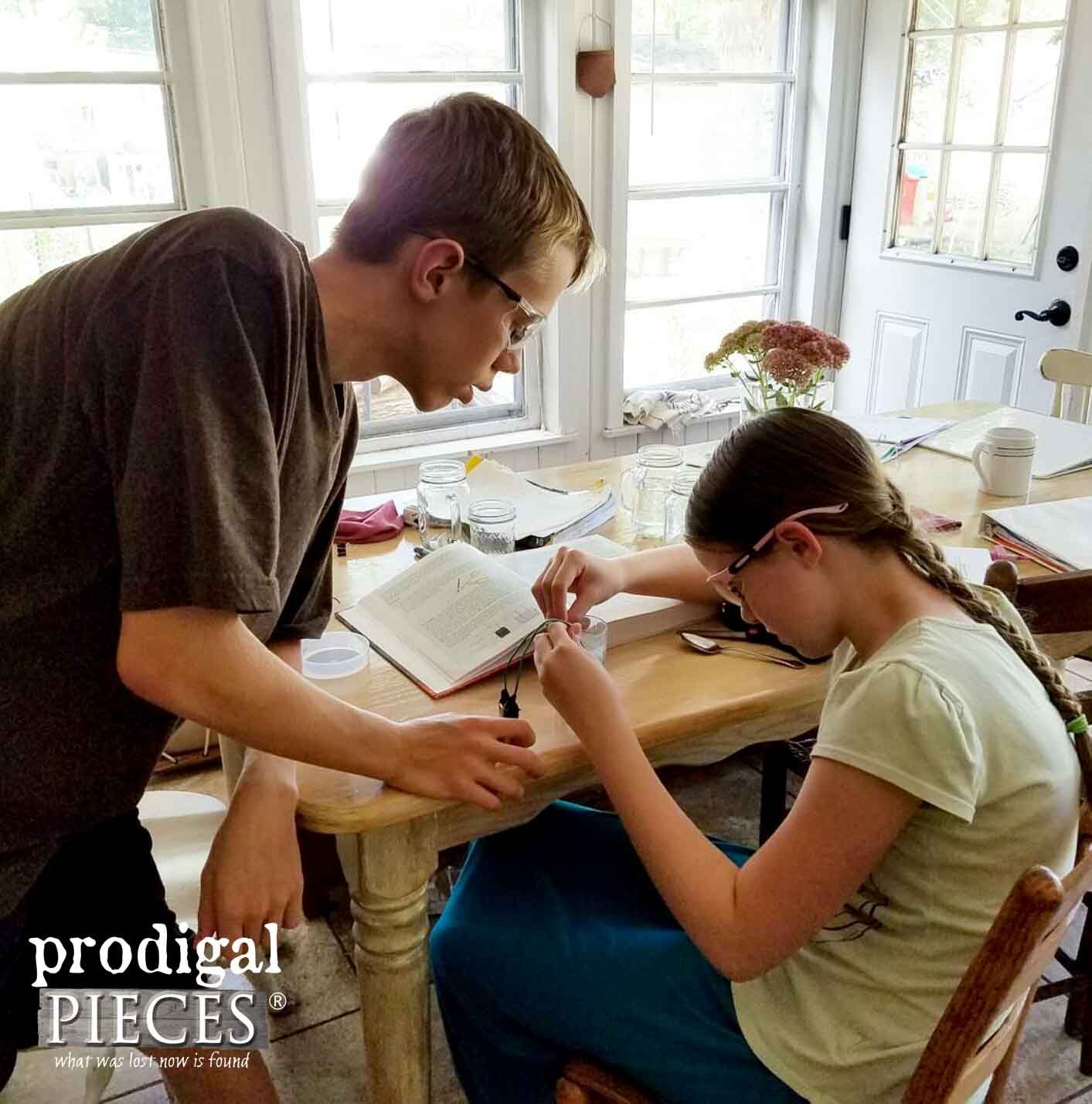 Homeschooling My Teenagers while Running a Business and Blog from Home | Prodigal Pieces | www.prodigalpieces.com