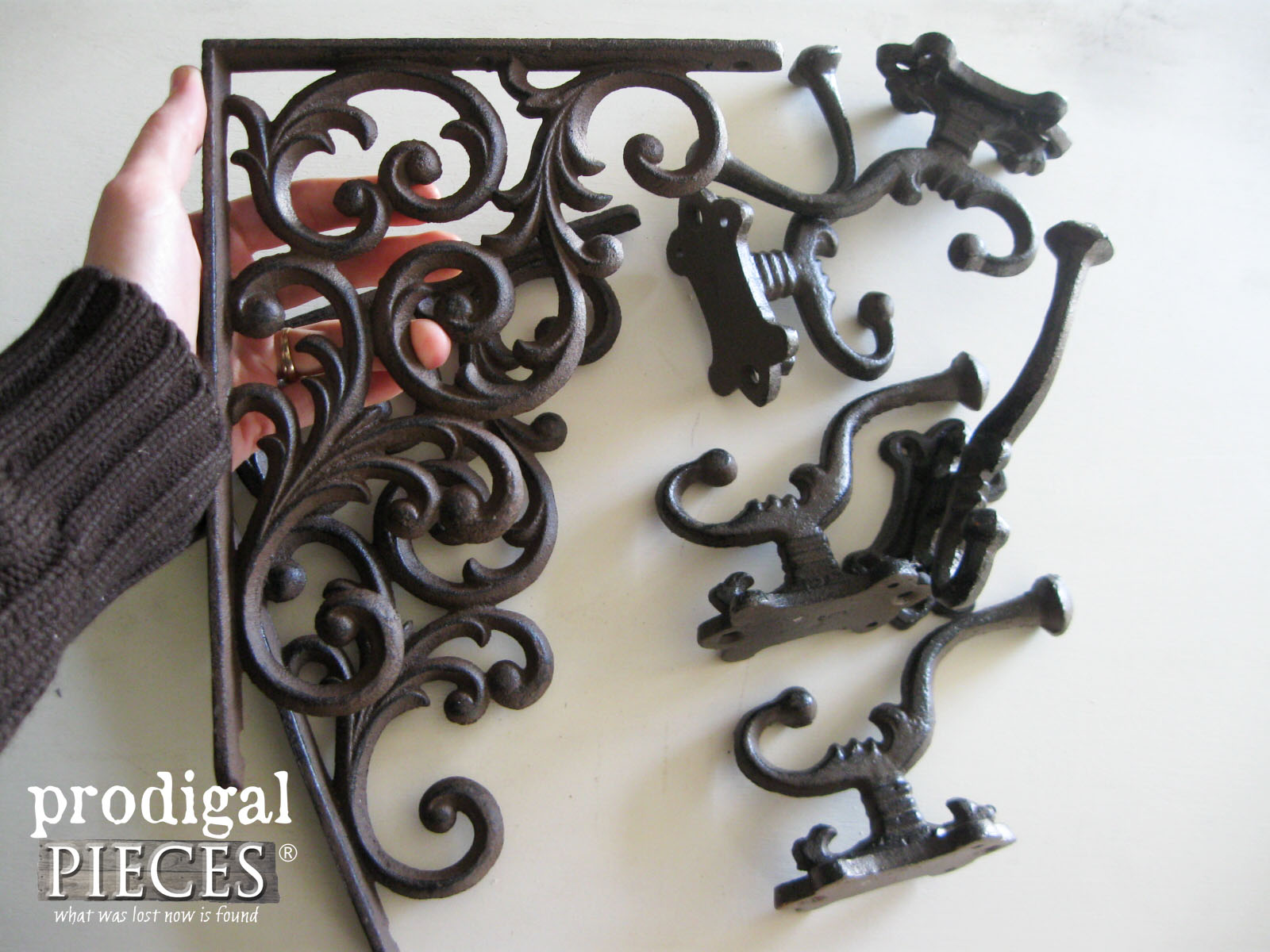 Decorative Cast Iron Brackets and Hooks by Rustic Brands | Prodigal Pieces | www.prodigalpieces.com
