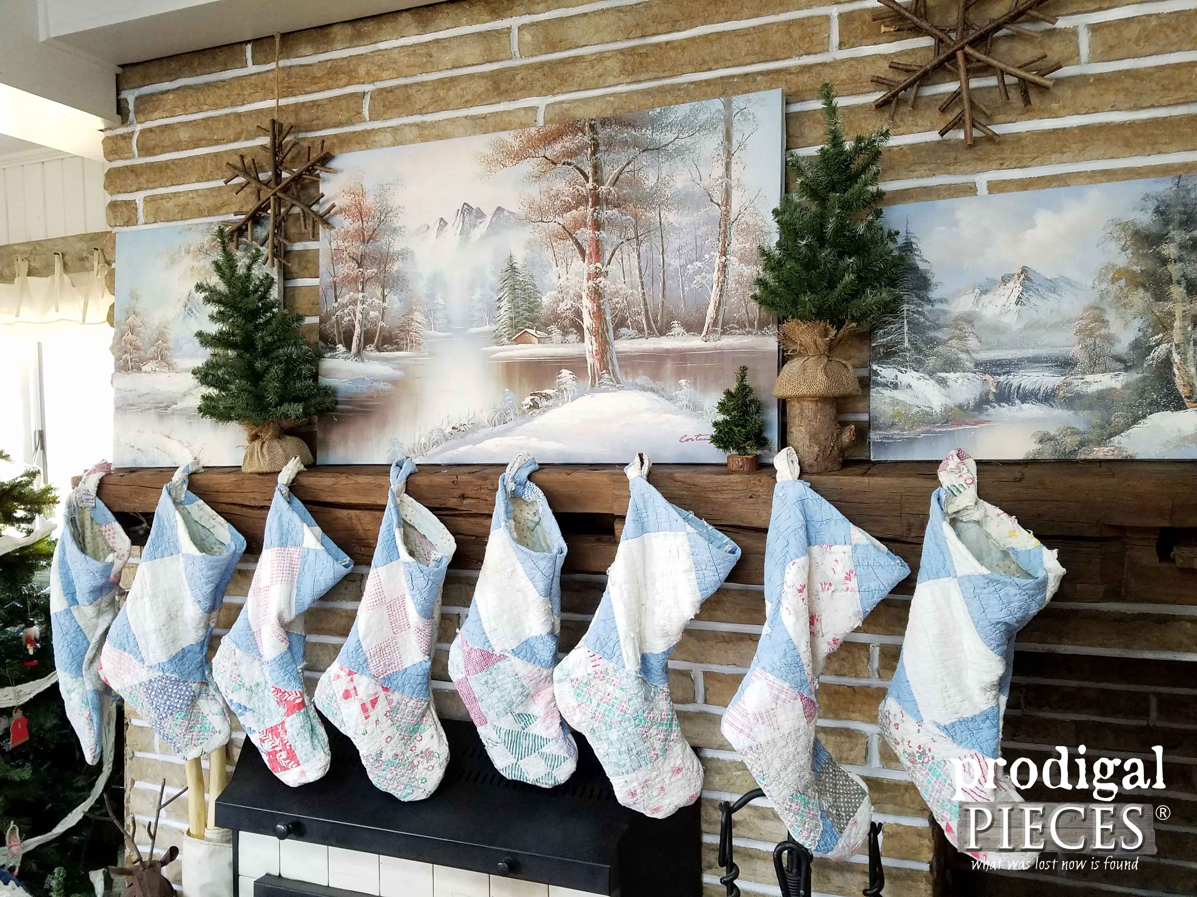 Upcycled Christmas Winter Mantel by Prodigal Pieces | www.prodigalpieces.com