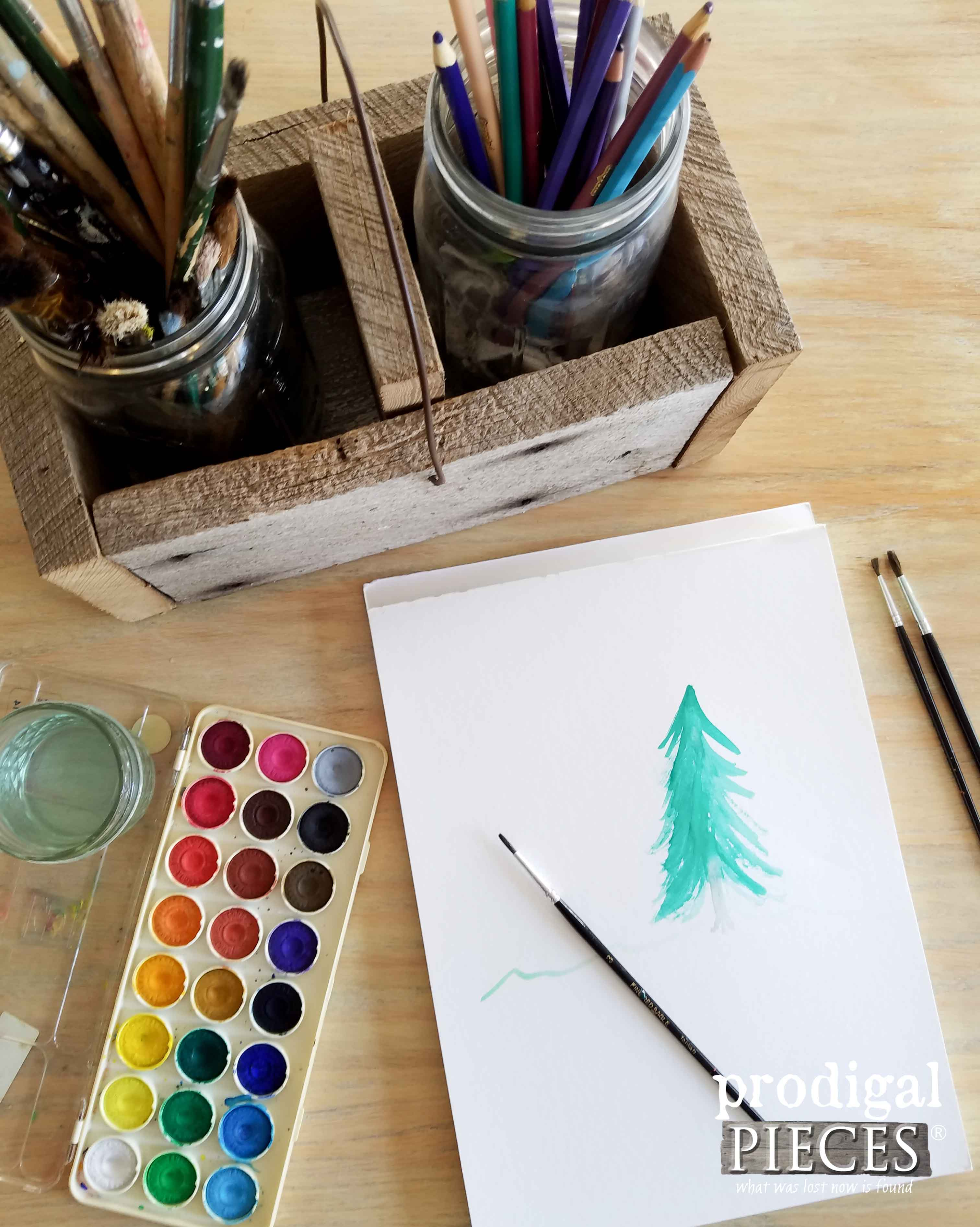 Build an Art Supply Caddy with this Tutorial by Prodigal Pieces | www.prodigalpieces.com