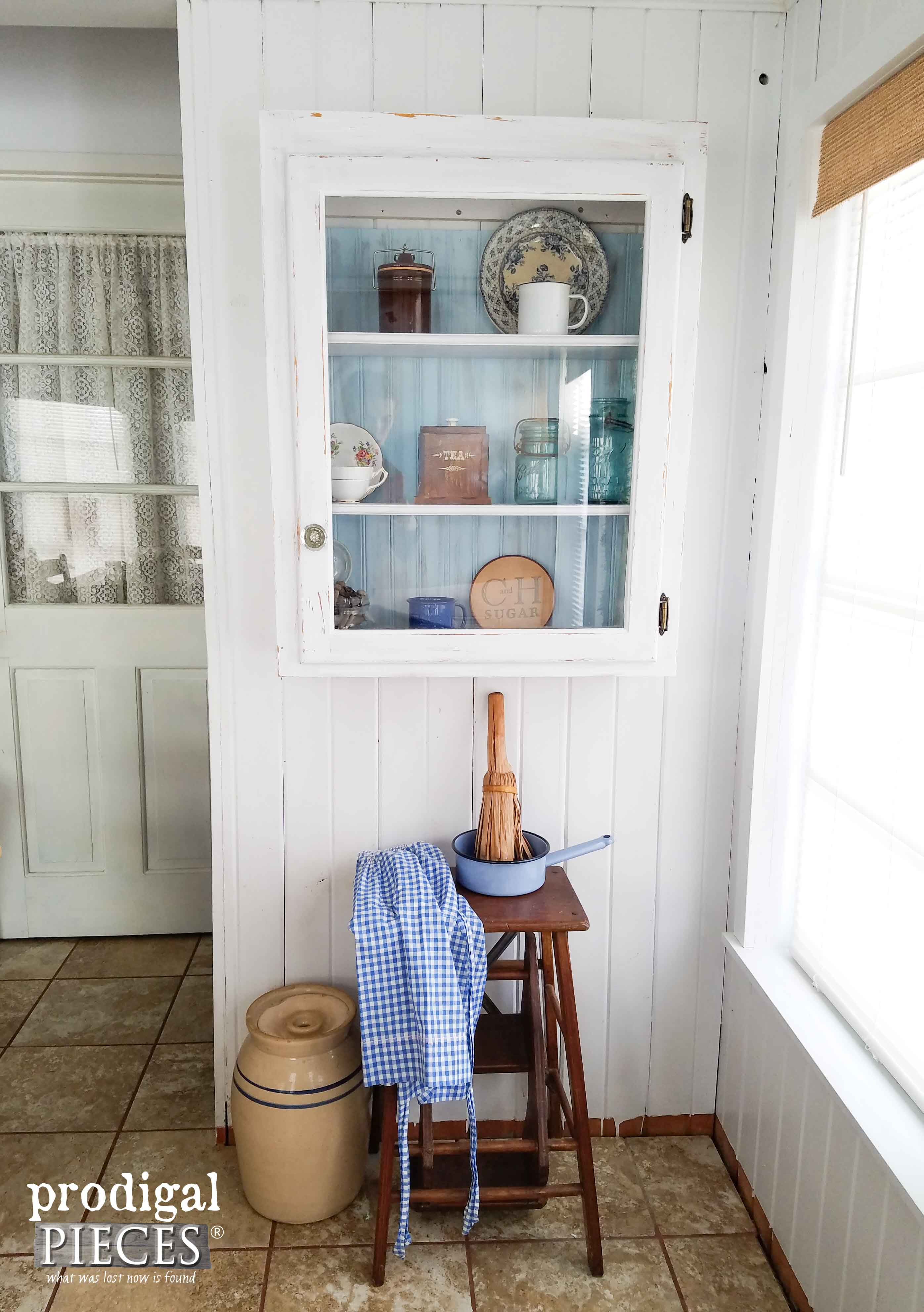 Rustic Farmhouse Cupboard Makeover by Prodigal Pieces | www.prodigalpieces.com