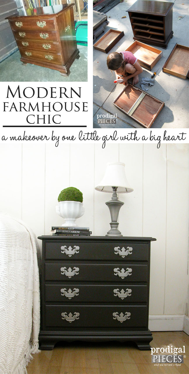 A Modern Farmhouse Chic Makeover by One Little Girl with A BIG Heart | Prodigal Pieces | prodigalpieces.com