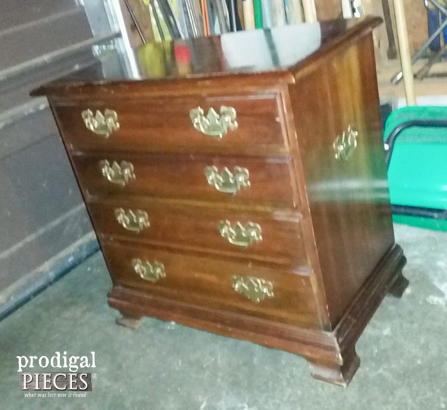 Mid Century Nightstand Before | Prodigal Pieces | prodigalpieces.com