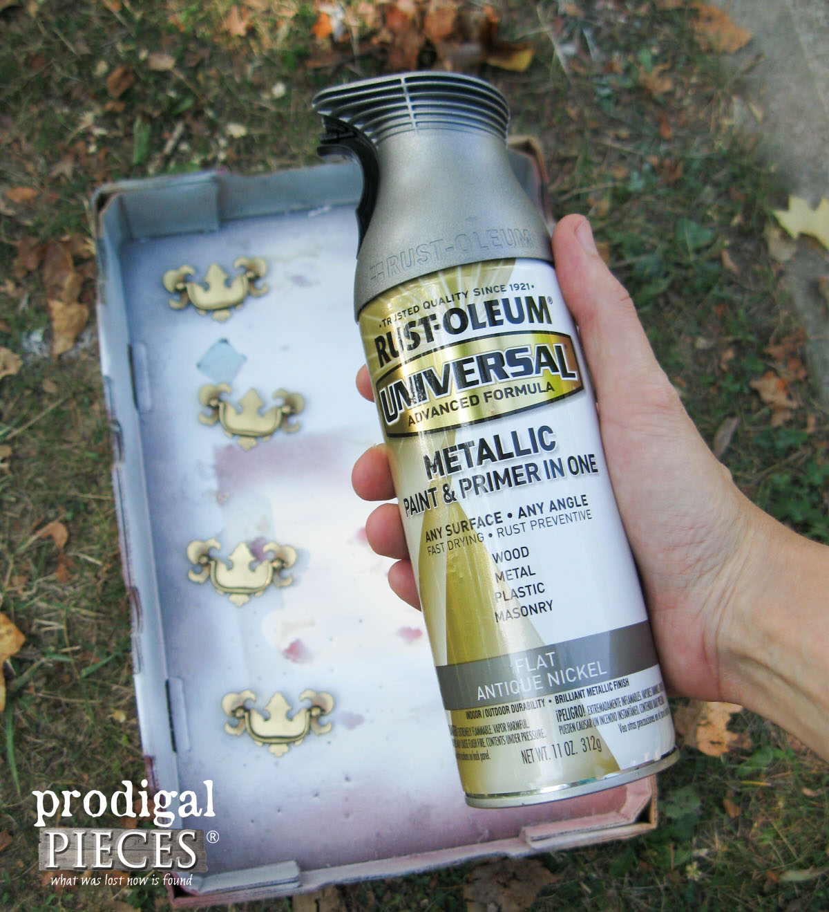 Antique Nickel Spray Paint for Nightstand Pulls | Prodigal Pieces | prodigalpieces.com