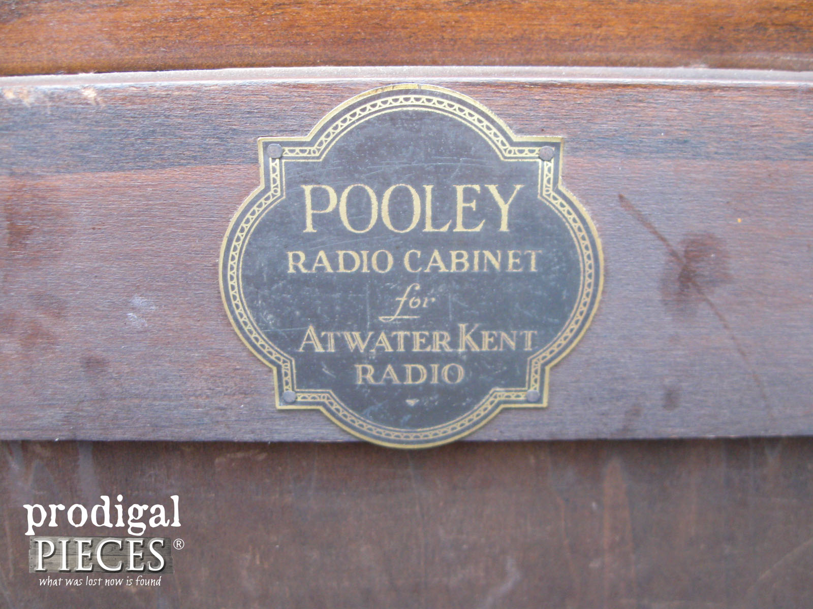 Original Antique Pooley Radio Cabinet | Prodigal Pieces | www.prodigalpieces.com