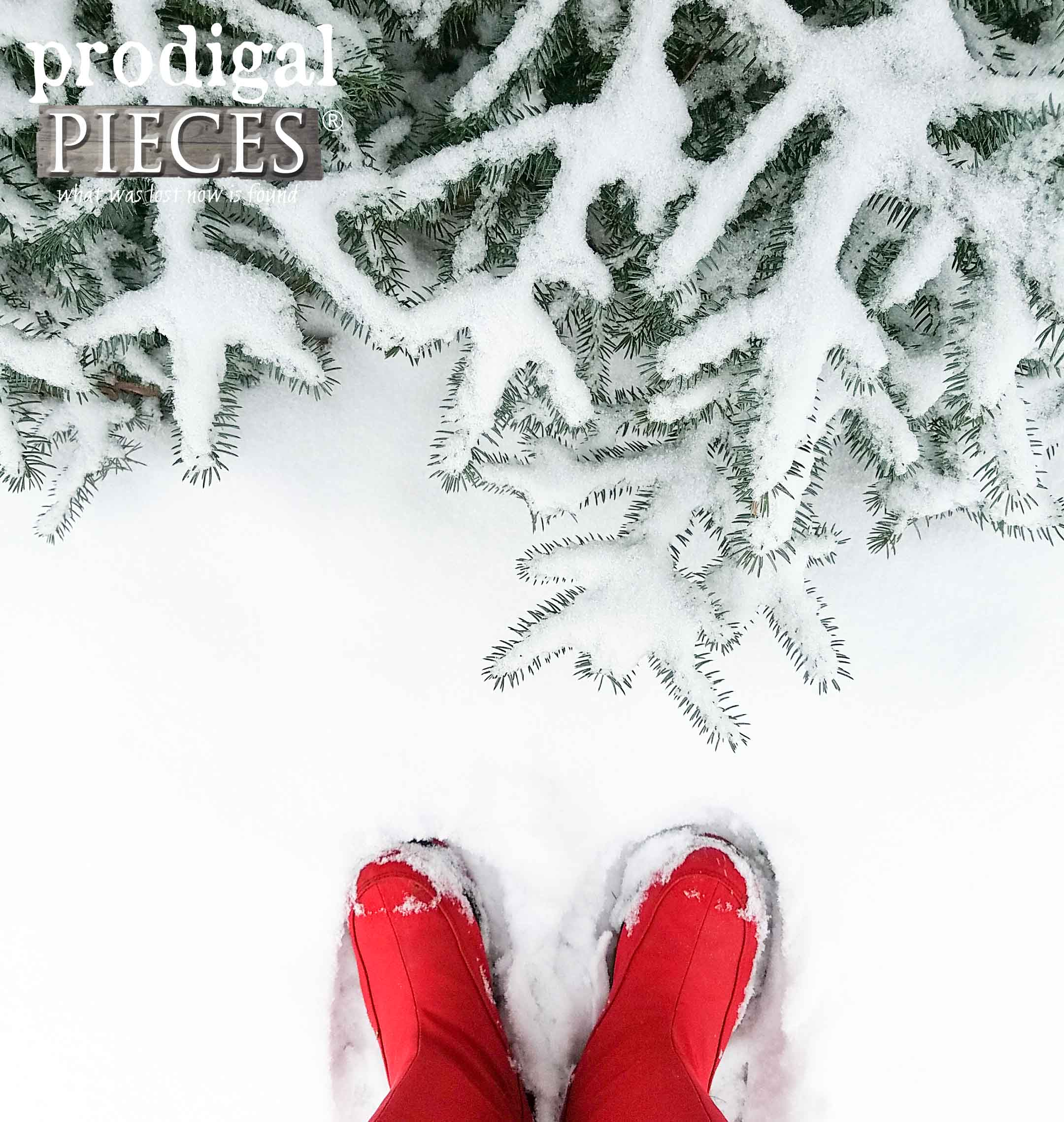 Red Boots in Fresh Fallen Snow | Prodigal Pieces | prodigalpieces.com