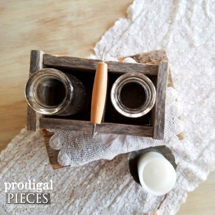 Top View of DIY Wooden Caddy | Prodigal Pieces | www.prodigalpieces.com