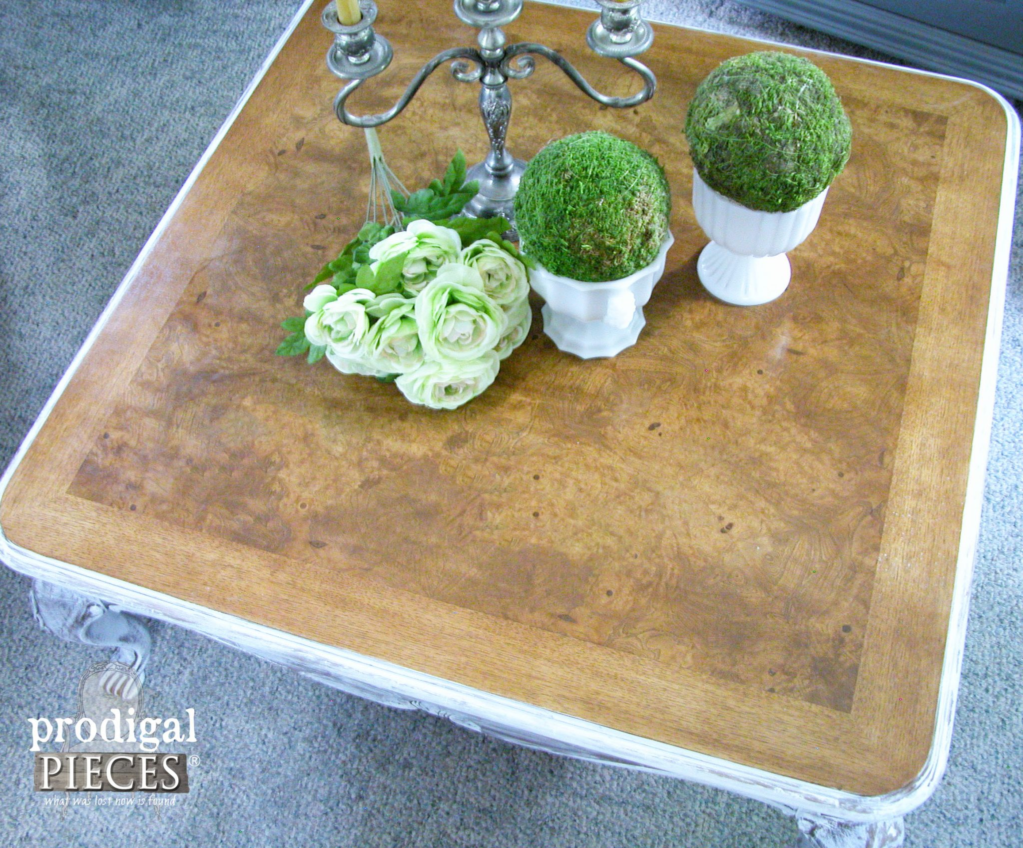 Burled Wood French Country Coffee Table by Prodigal Pieces | prodigalpieces.com