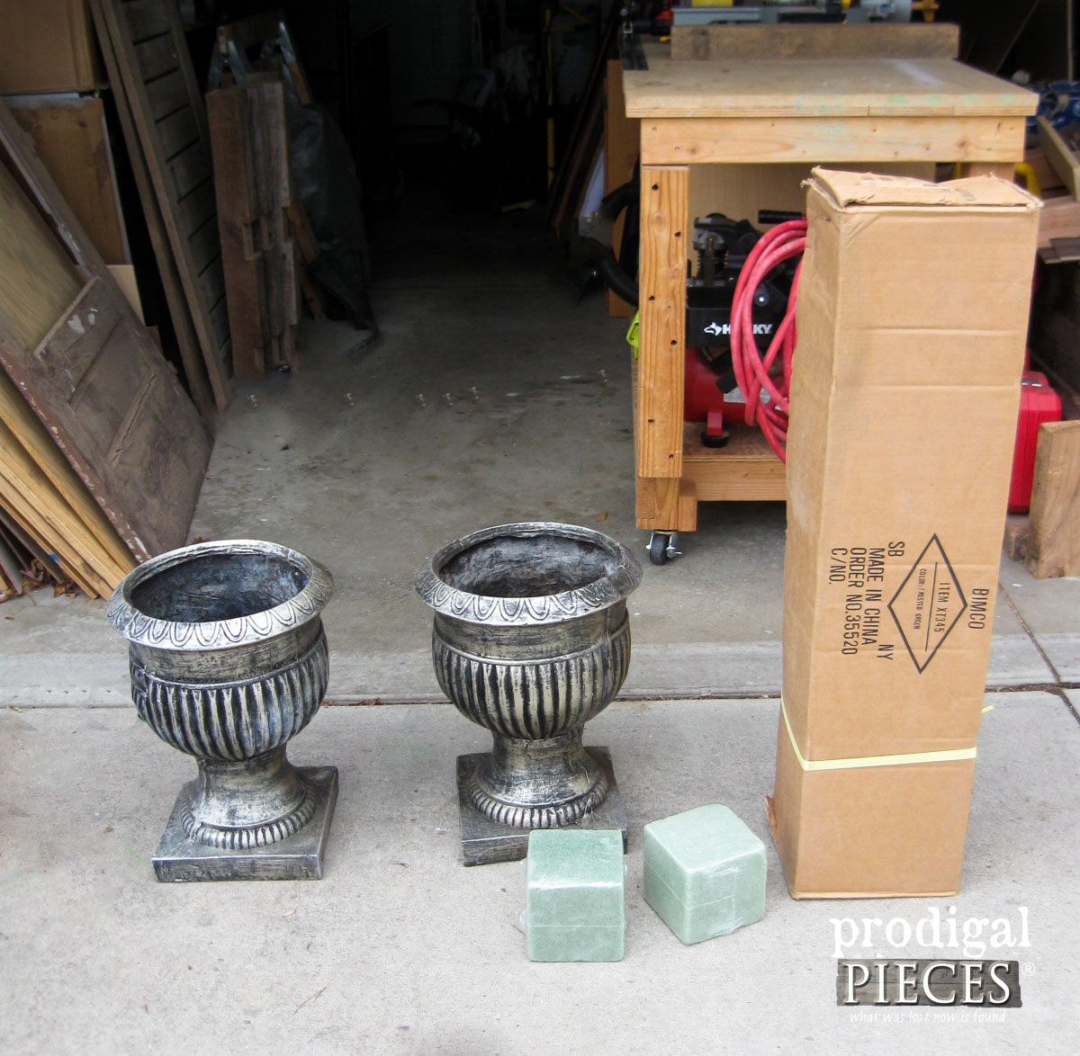 Urns Ready for Winter Makeover | Prodigal Pieces | www.prodigalpieces.com