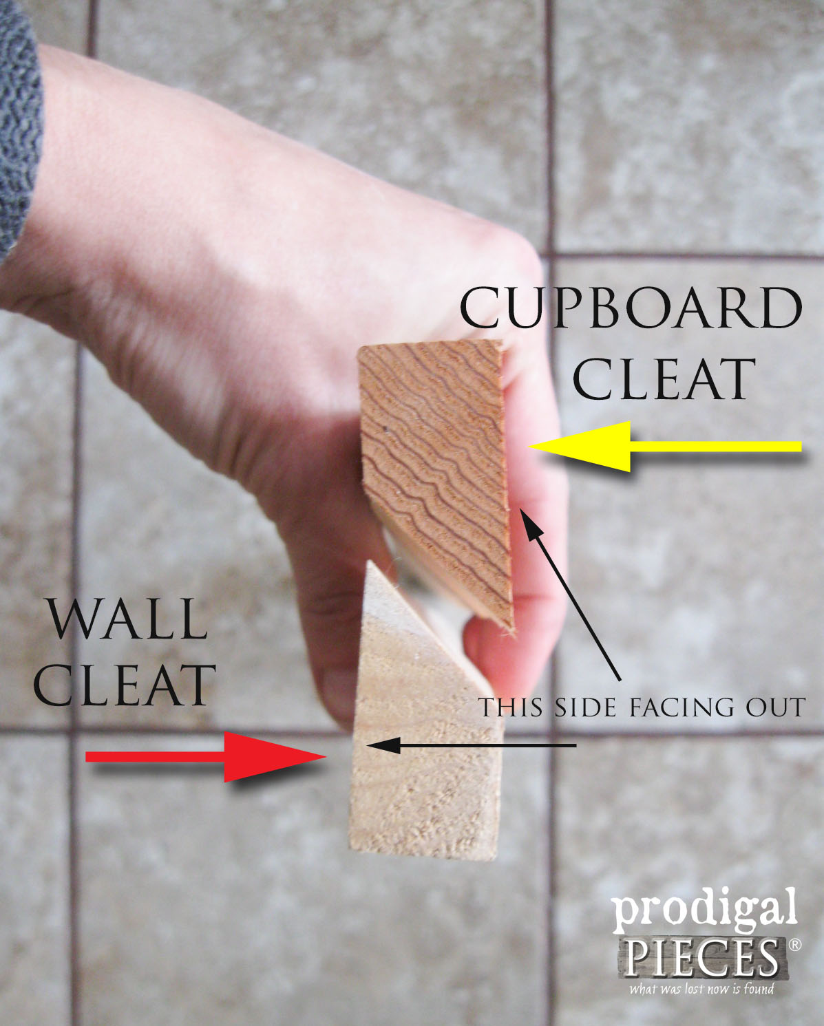 DIY Wall Cleat Diagram by Prodigal Pieces | prodigalpieces.com