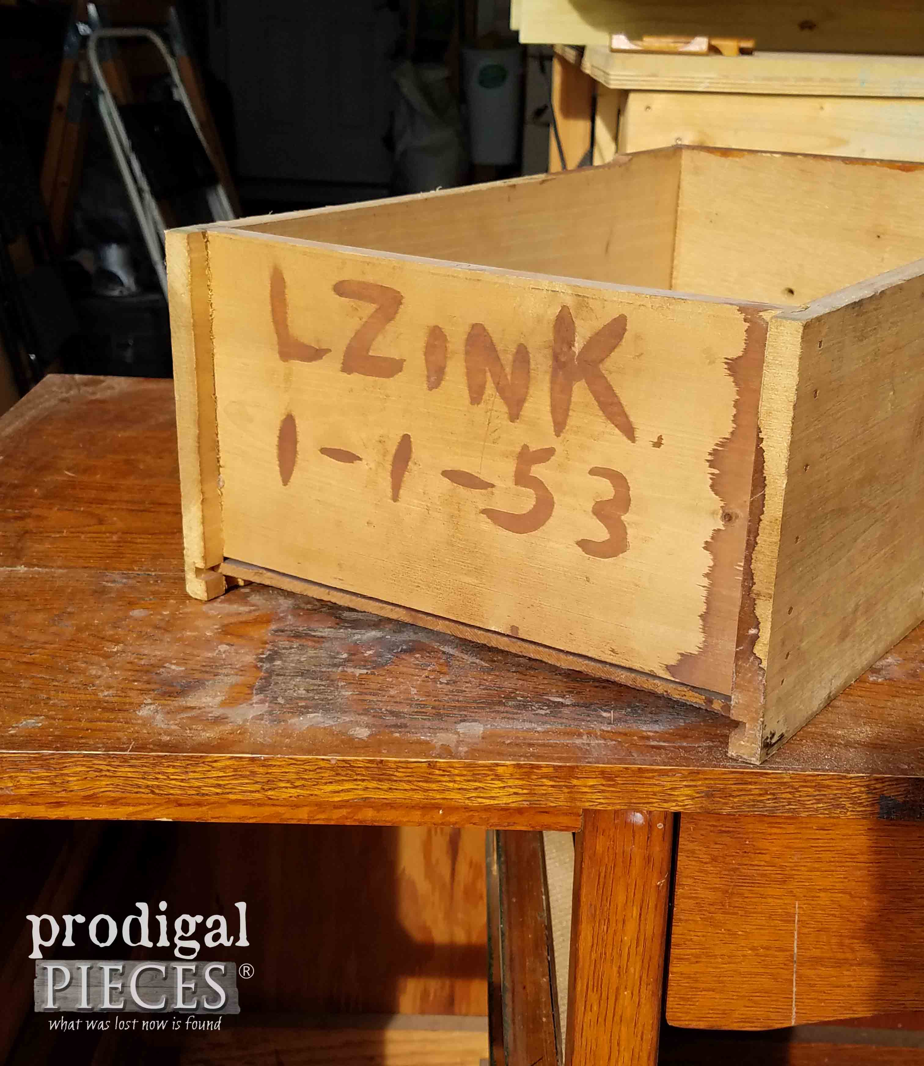Hand Writing on Desk Drawer | Prodigal Pieces | prodigalpieces.com