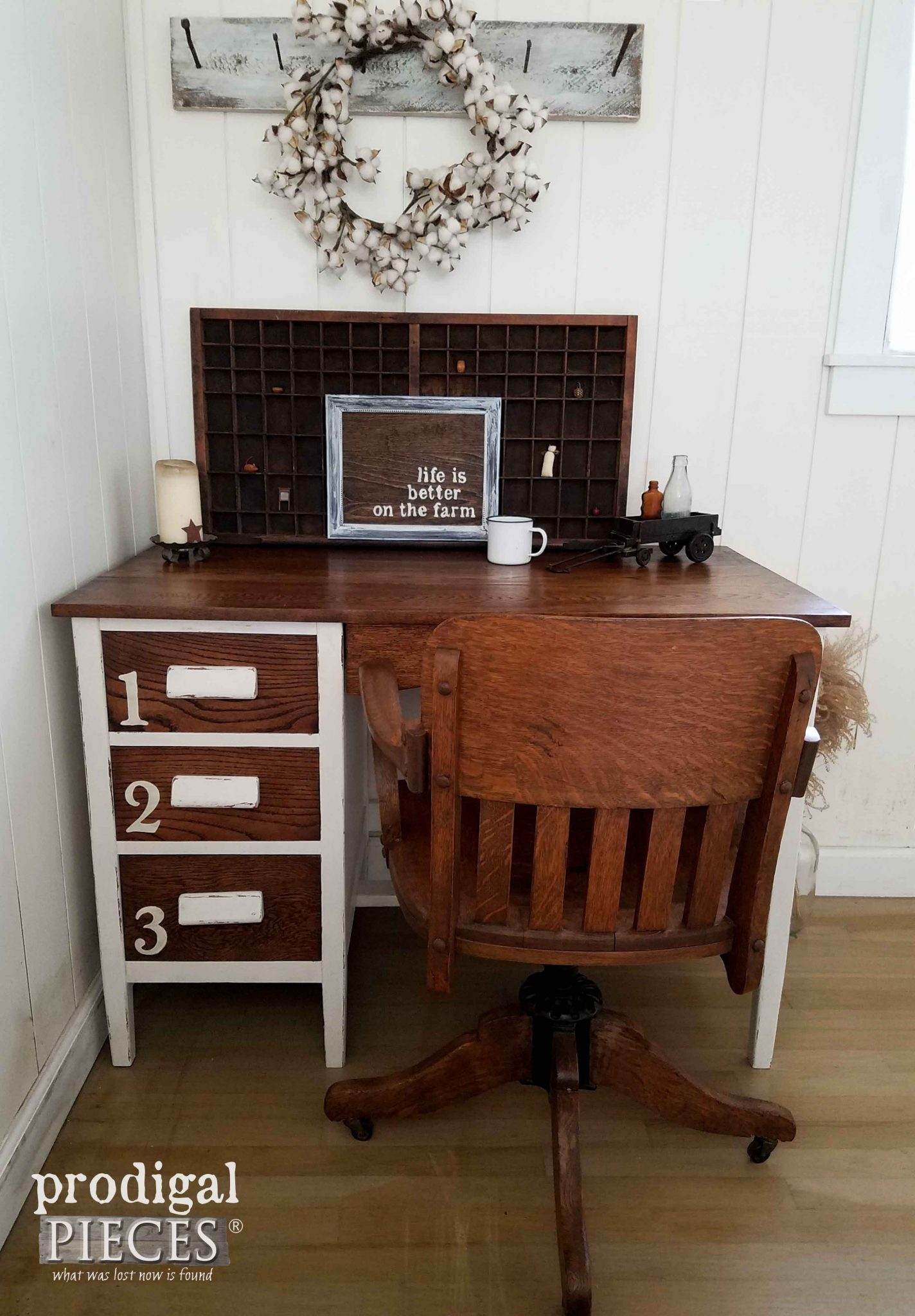 Industrial Oak Desk by Prodigal Pieces | prodigalpieces.com