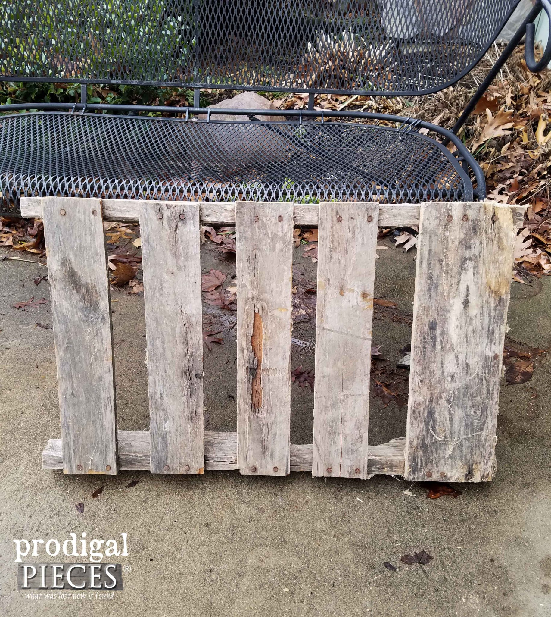 Piece of Pallet Before Repurposing | Prodigal Pieces | prodigalpieces.com