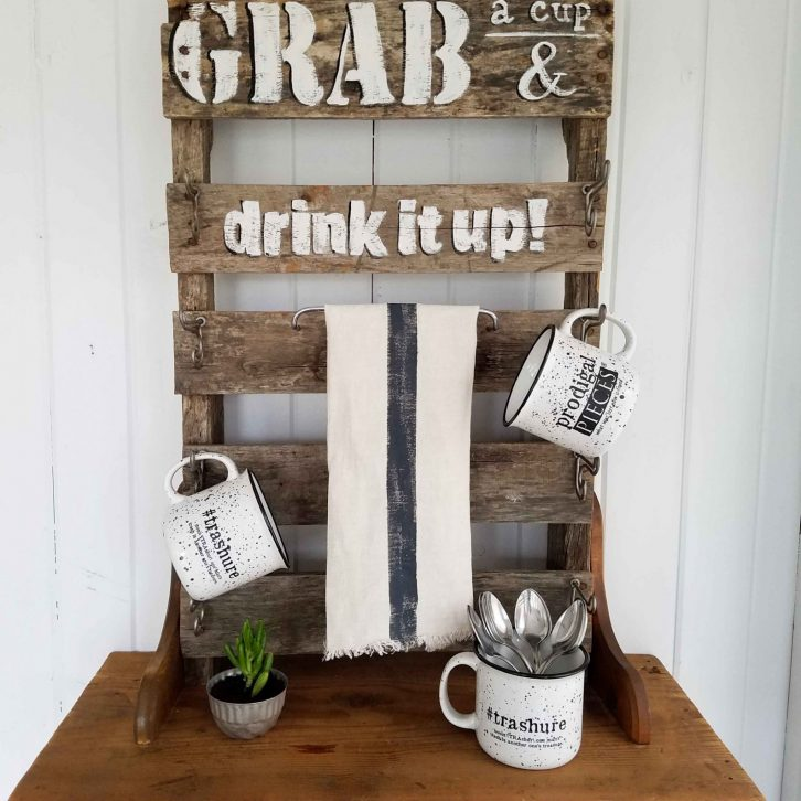Repurposed Pallet Mug Rack by Prodigal Pieces | prodigalpieces.com