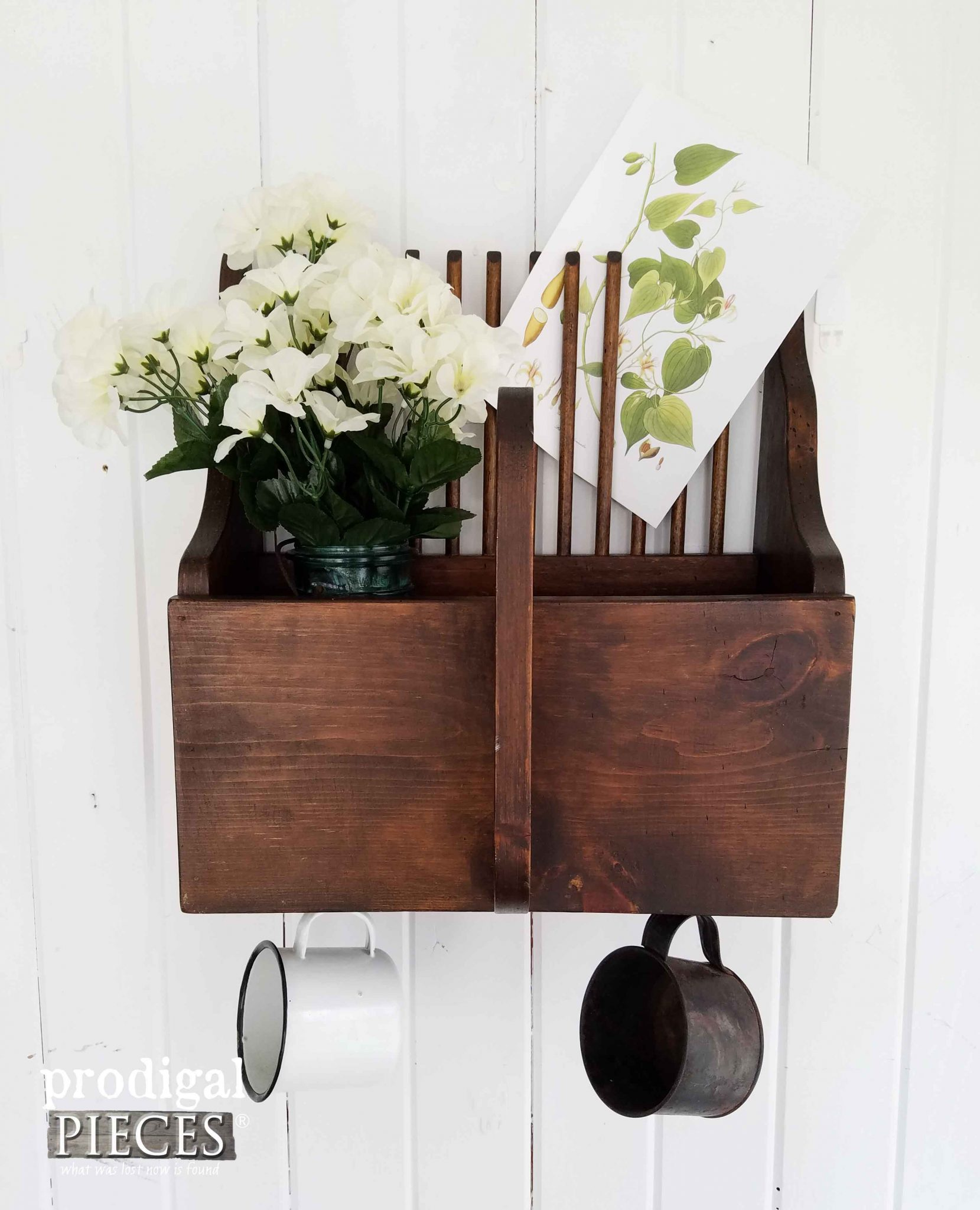 Apple Picker Repurposed into a Wall Pocket by Prodigal Pieces | prodigalpieces.com