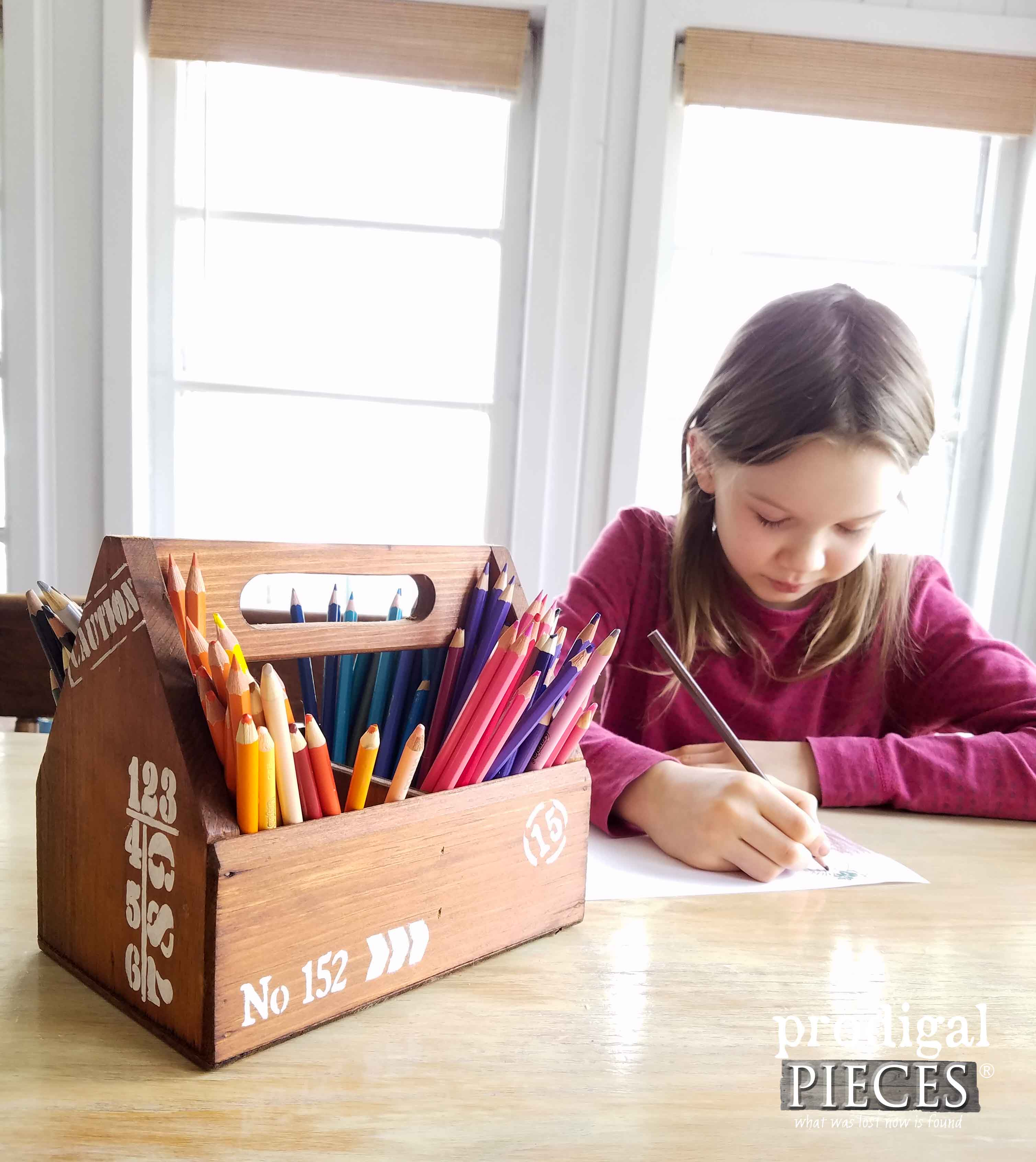 Coloring Pencil Caddy DIY by Prodigal Pieces | prodigalpieces.com