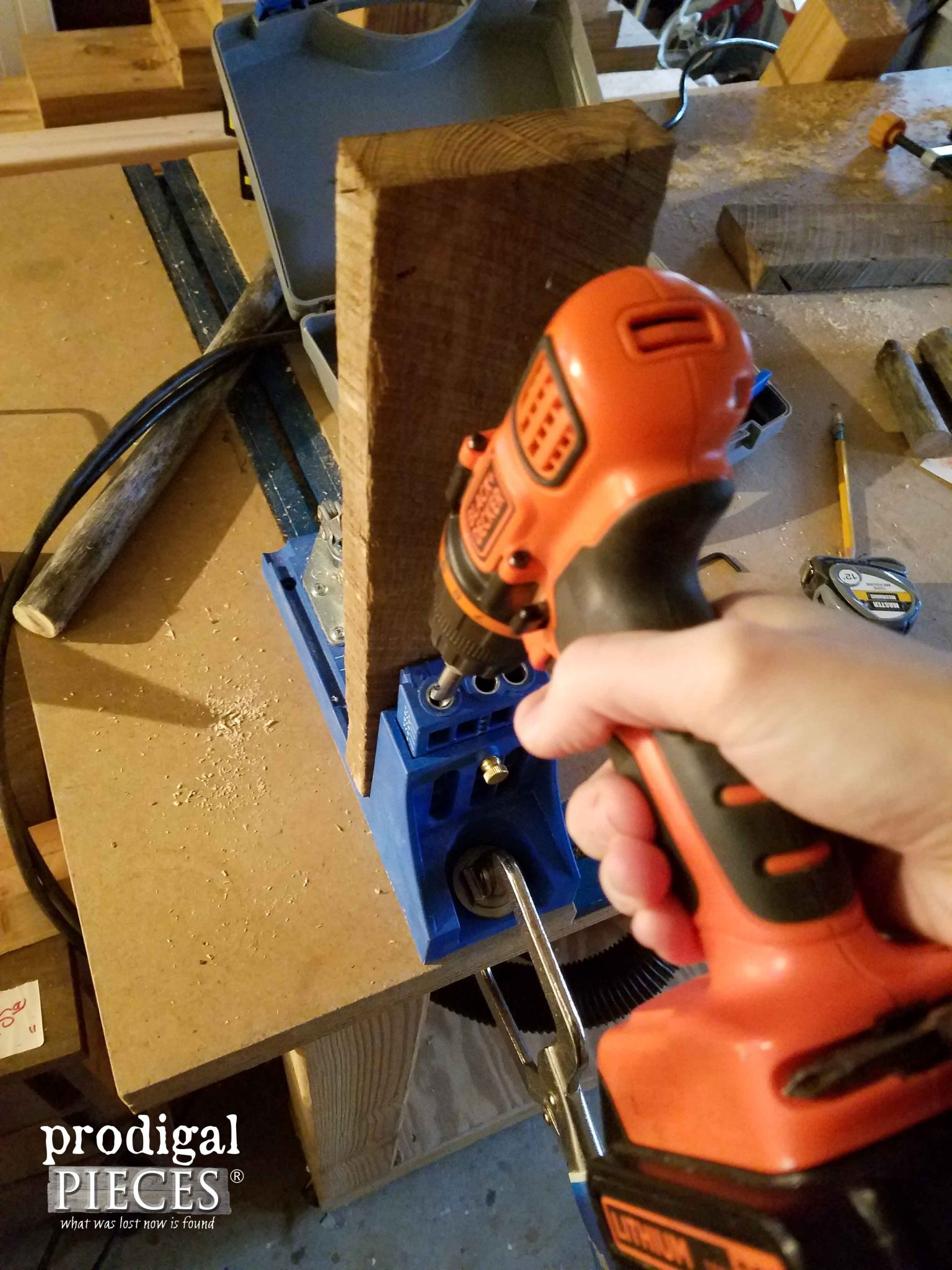 Using Kreg Jig to Make Antique Clamp Chair | Prodigal Pieces | prodigalpieces.com