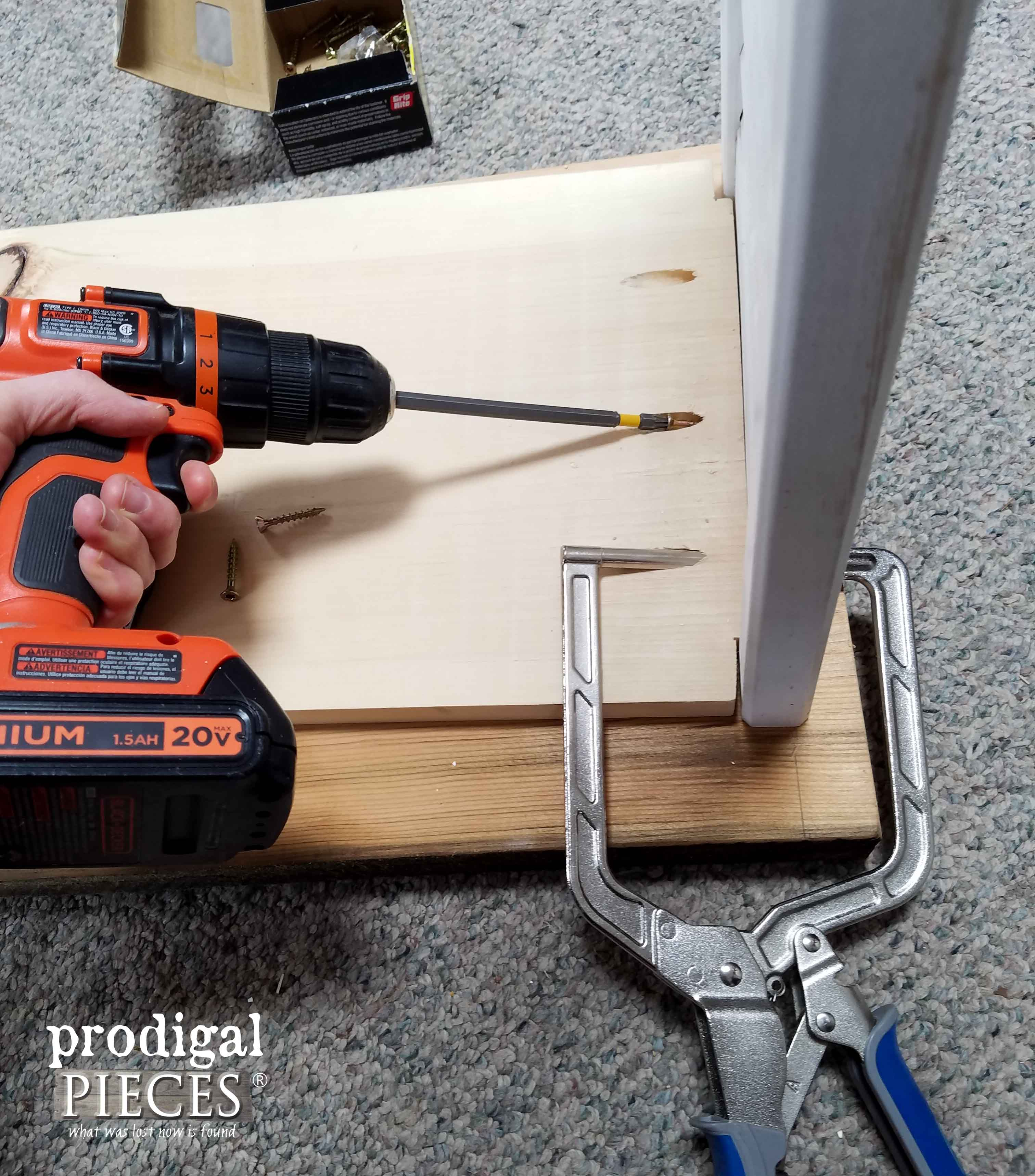Attaching Shelving to Kitchen Island | Prodigal Pieces | prodigalpieces.com