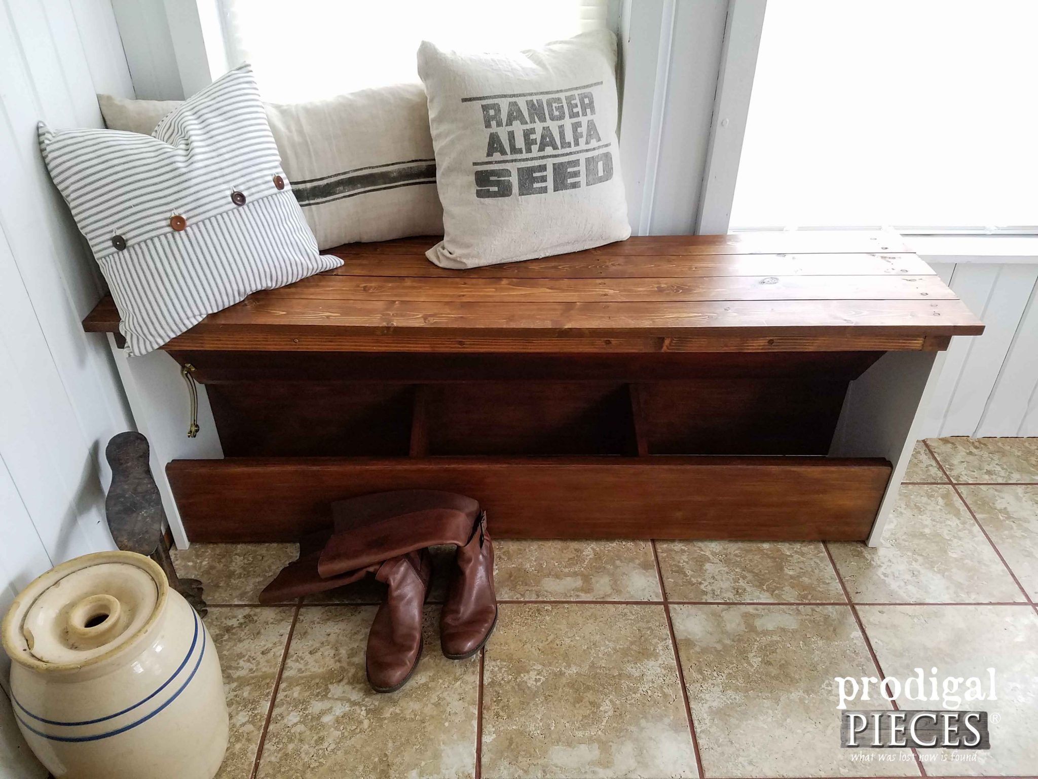 Open Storage Bench by Prodigal Pieces | prodigalpieces.com